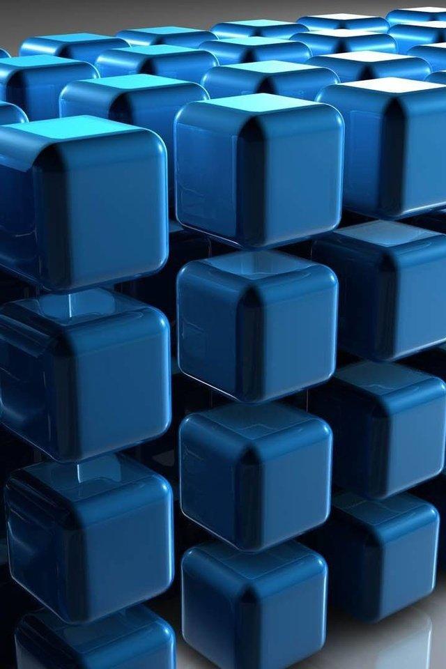 картинки синие кубики семья его