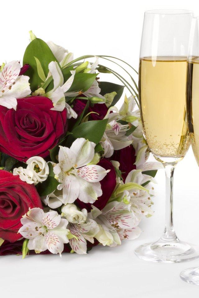 розы и шампанское фото костя