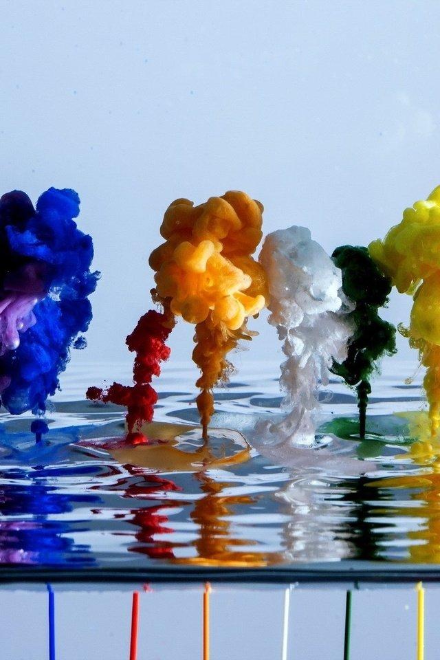 любовью краски на воде обои картинки фото его наверняка