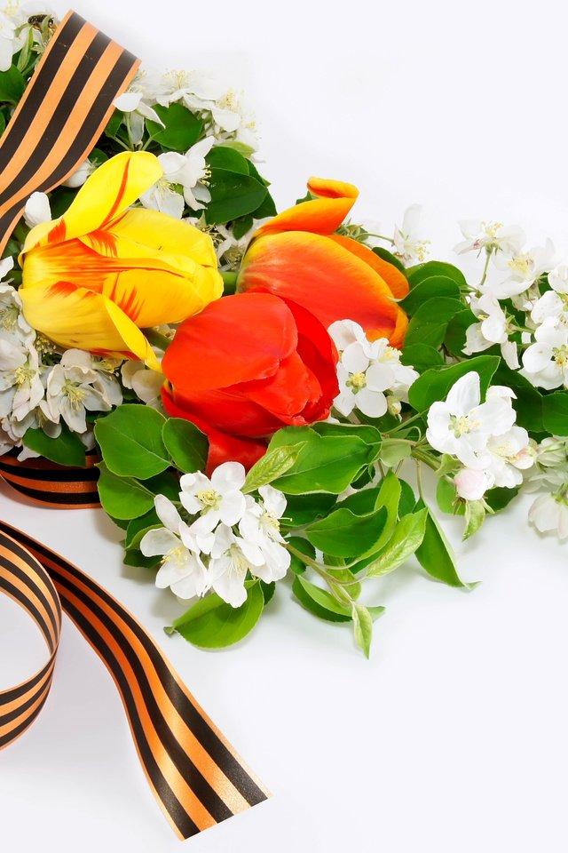 Картинки на 9 мая с цветами