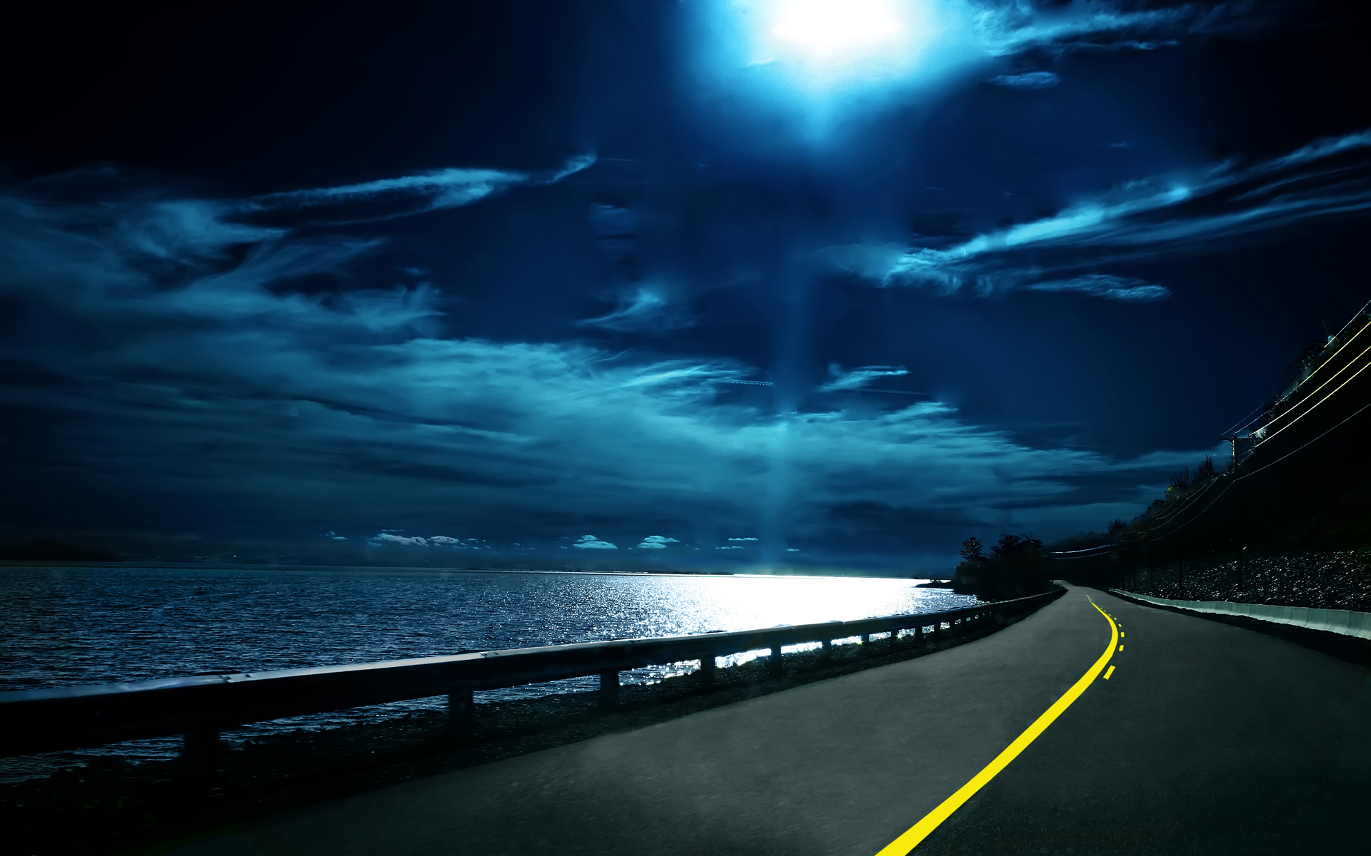 Ночной путь картинки