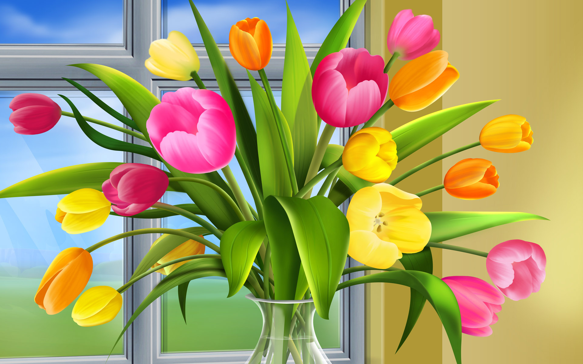 Весенний букет праздник для мамы