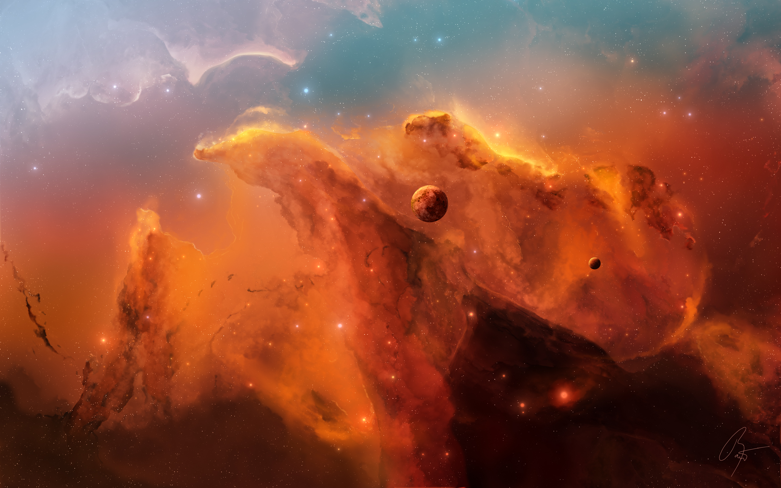 Обои Планета солнце туманность картинки на рабочий стол на тему Космос - скачать бесплатно