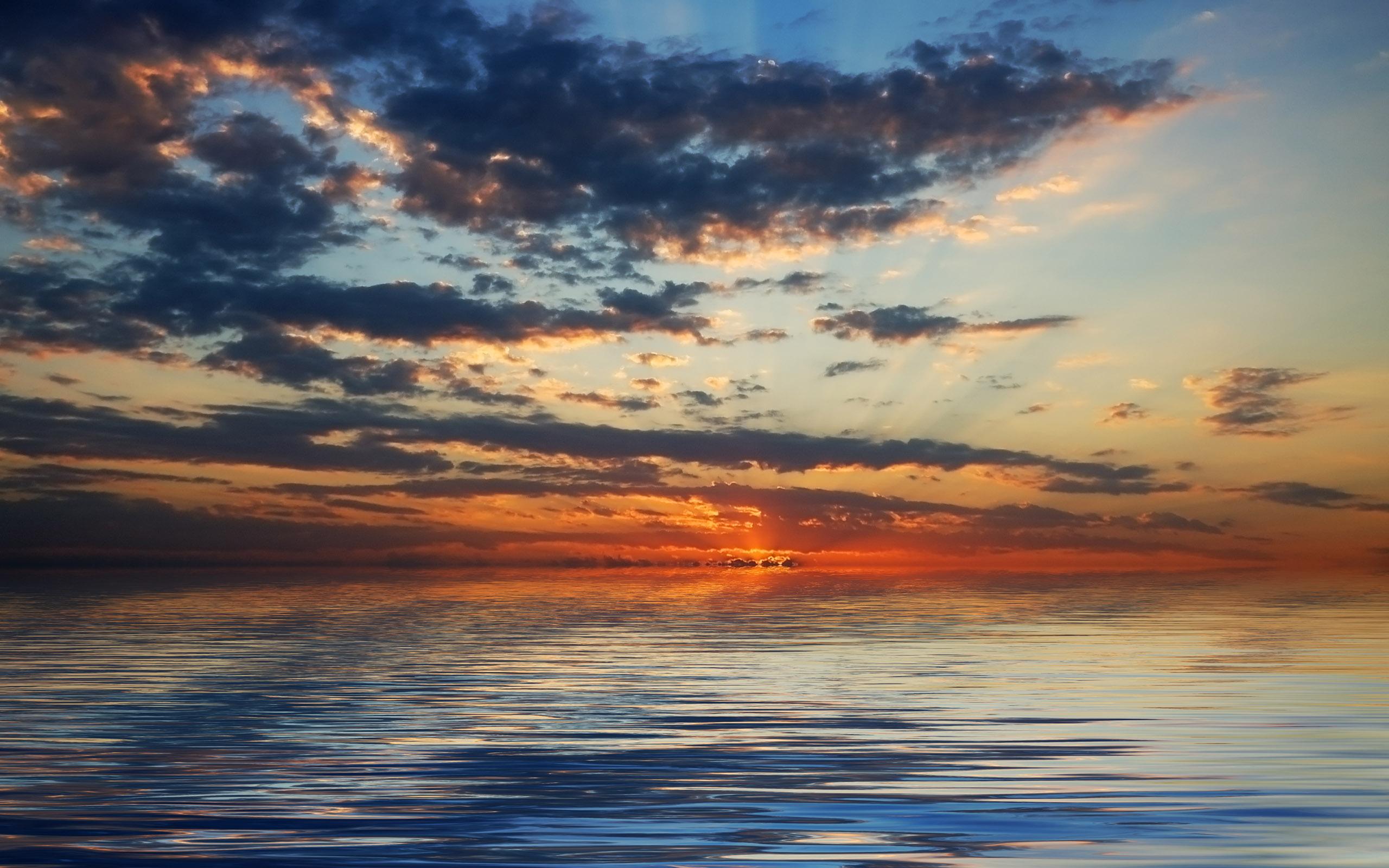 природа горизонт облака небо море nature horizon clouds the sky sea  № 2761241 без смс