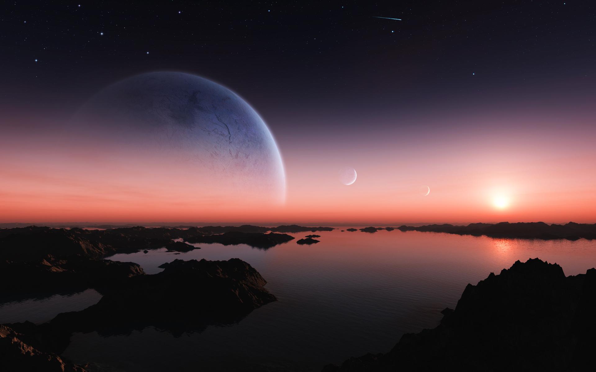 уходи картинки планета земля на рассвете неделю