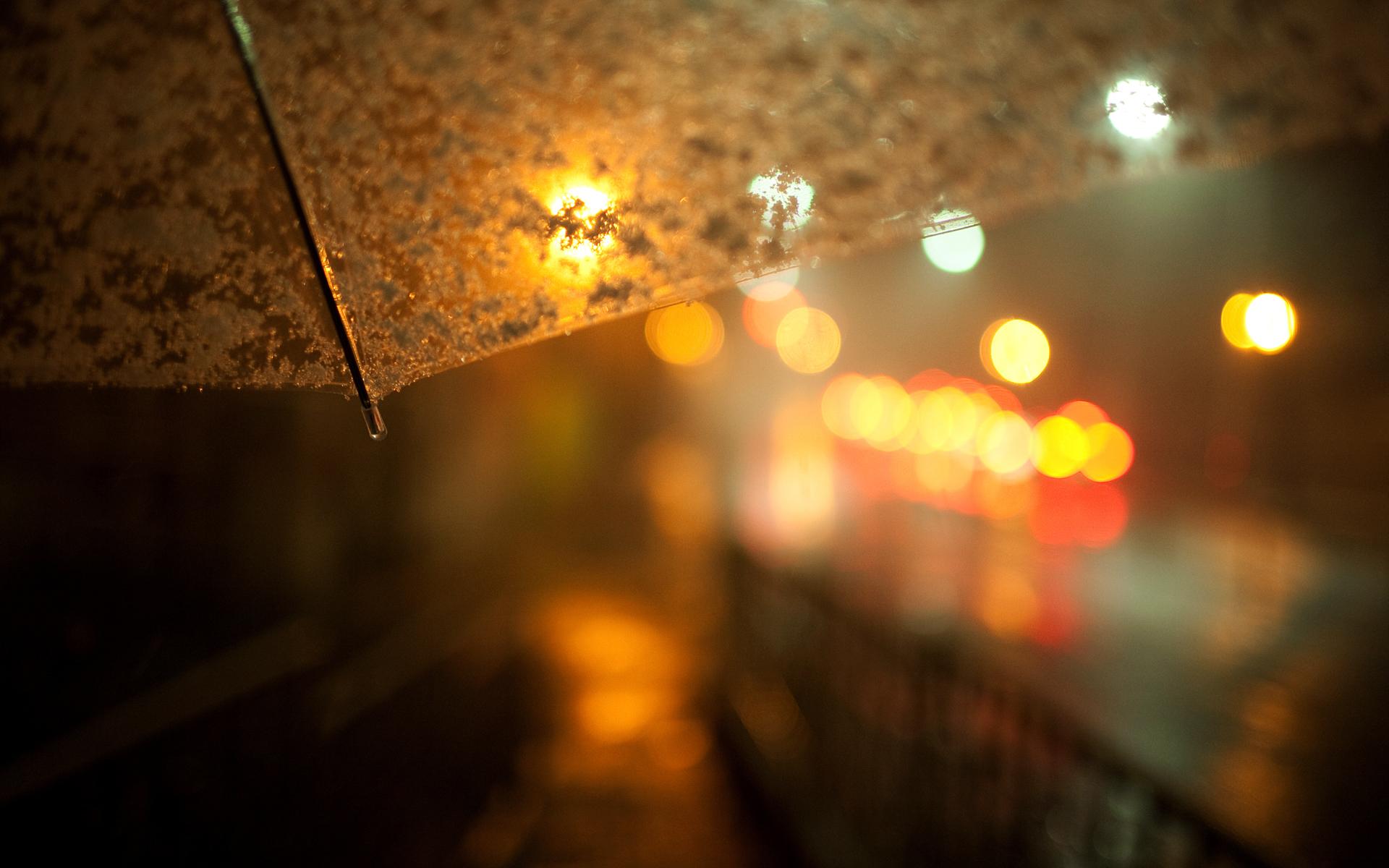 Зонт желтый лужи без смс