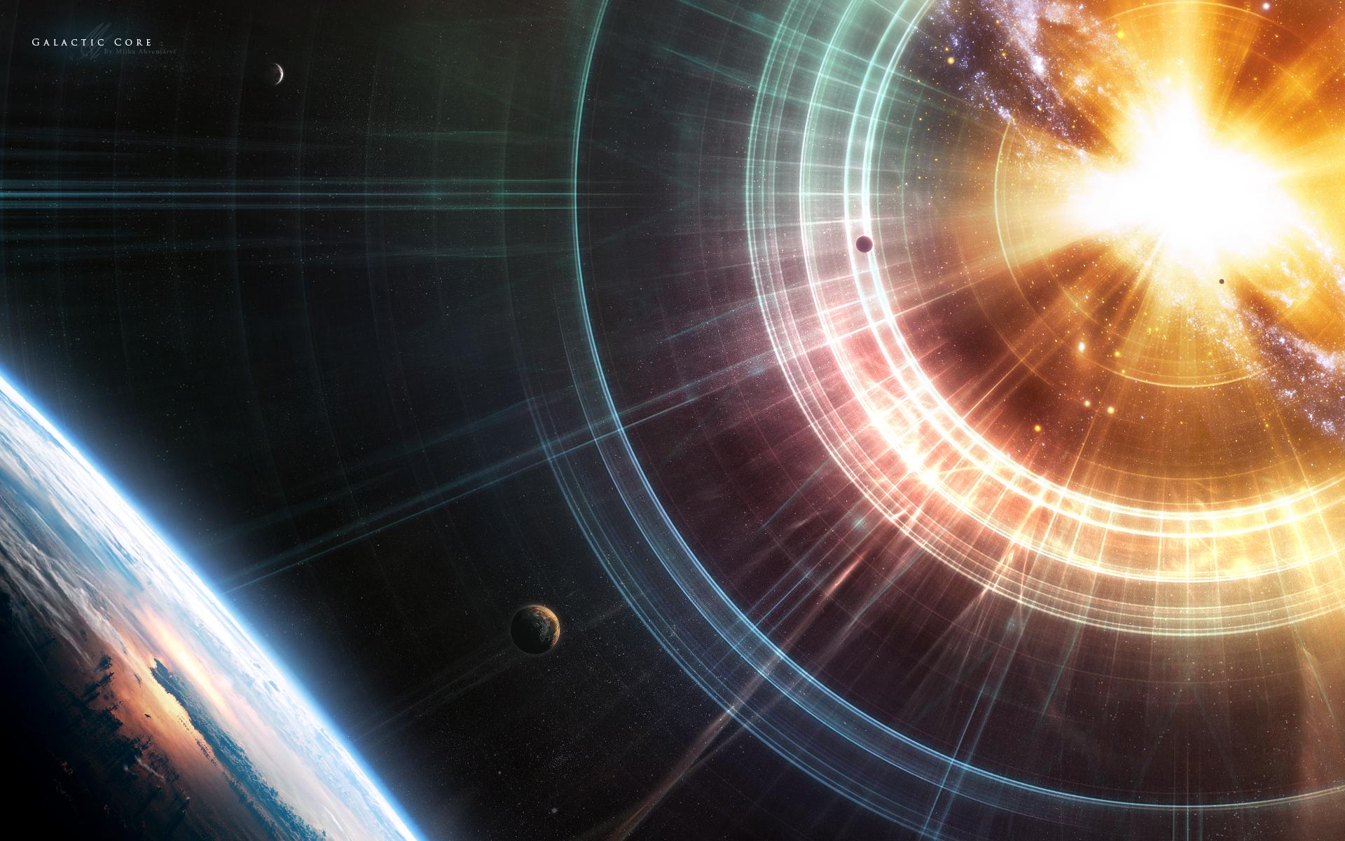 Обои Свечение планеты изнутри картинки на рабочий стол на тему Космос - скачать скачать