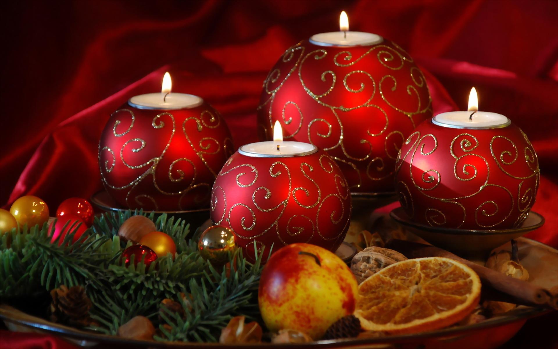 Свечи новый год  № 1395203  скачать