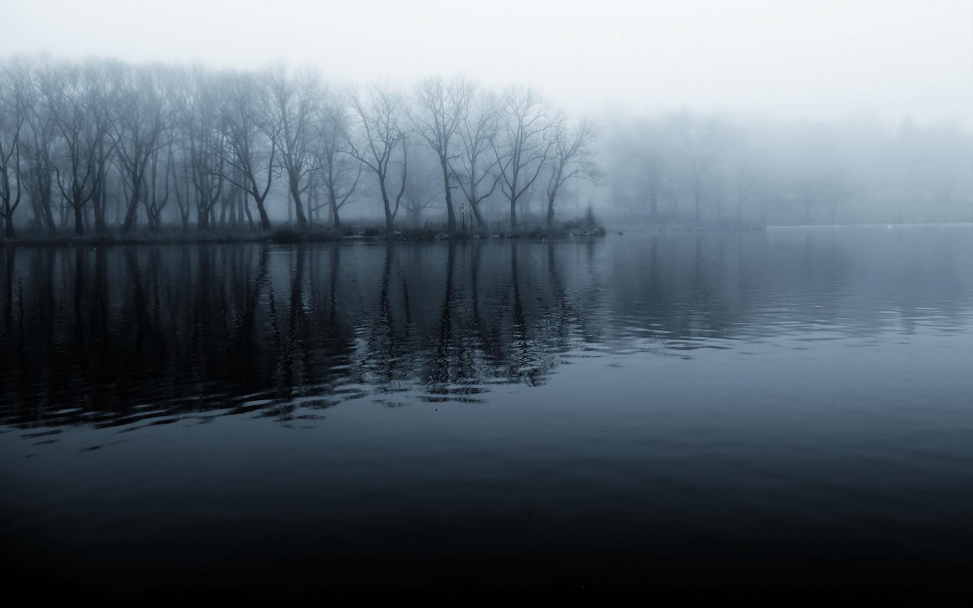 озеро туман обои на рабочий стол № 381728 загрузить
