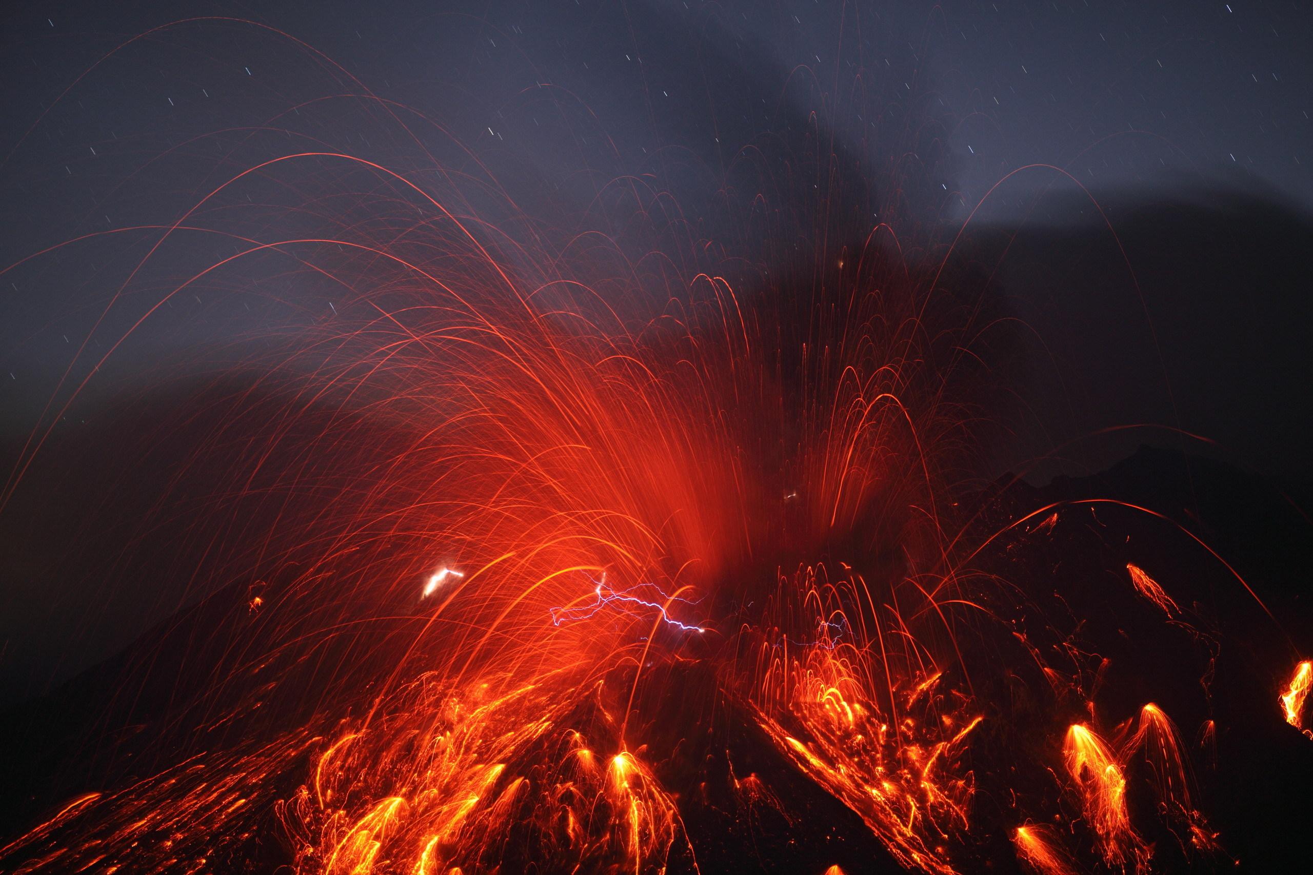 Земля после извержения вулкана скачать