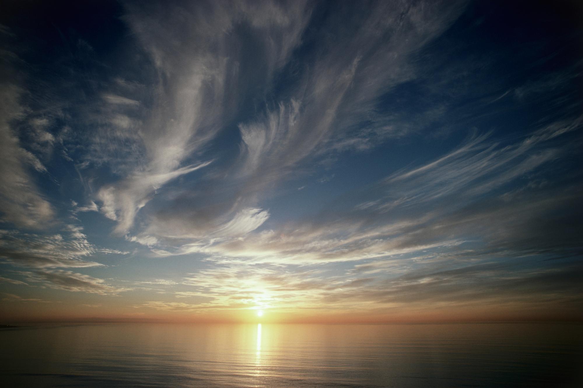 природа небо облака солнце горизонт  № 1275917  скачать