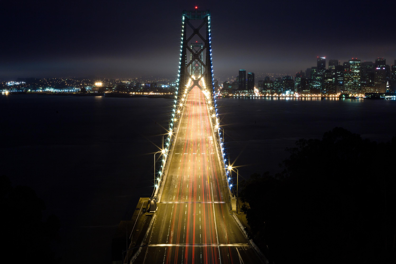 Мост огни ночь  № 3716589 загрузить