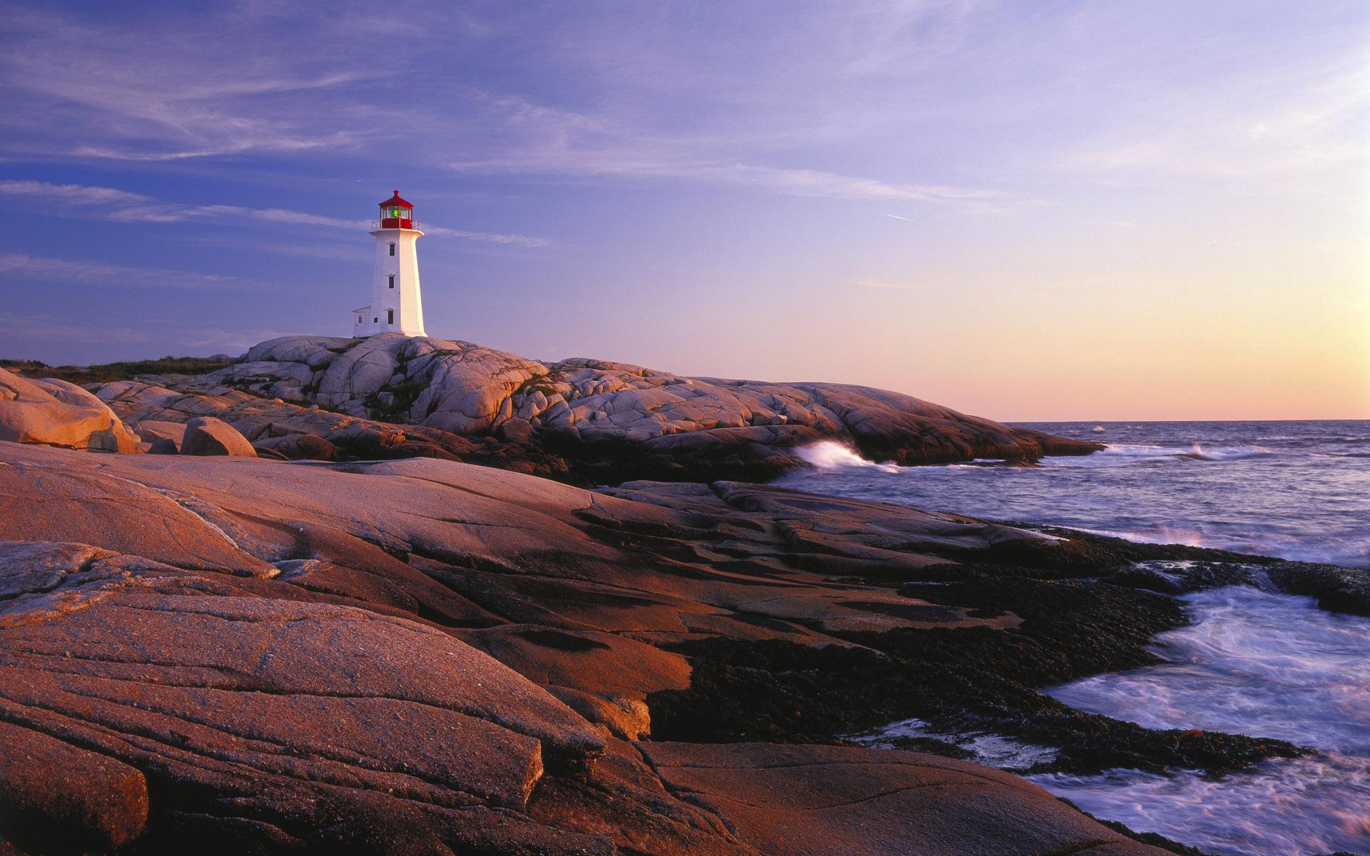 природа маяк море скалы  № 2238431  скачать