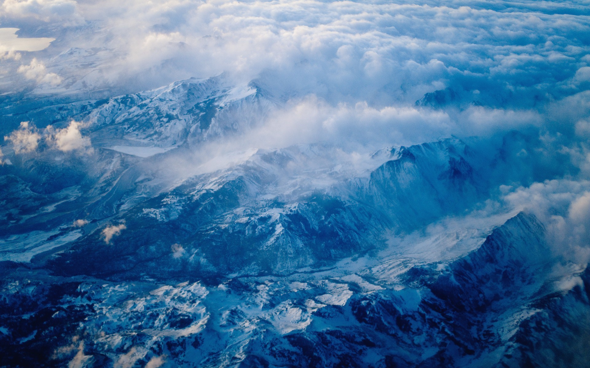 природа горы облака  № 2602237 без смс