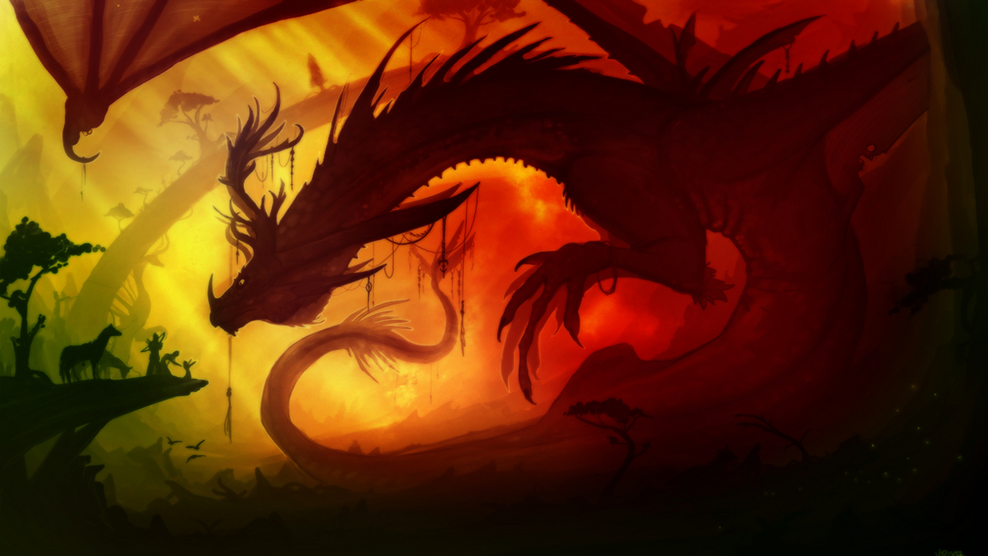 Драконы обои для рабочего стола анимация