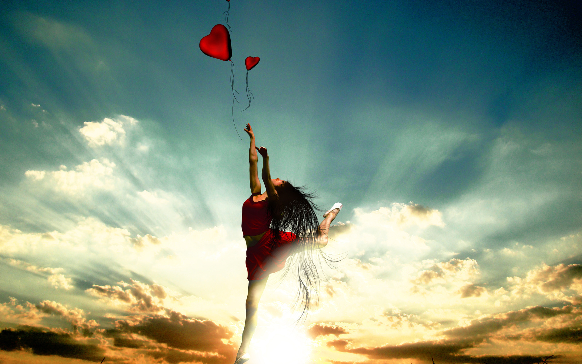 Сердце девушка обнимка  № 1659764  скачать