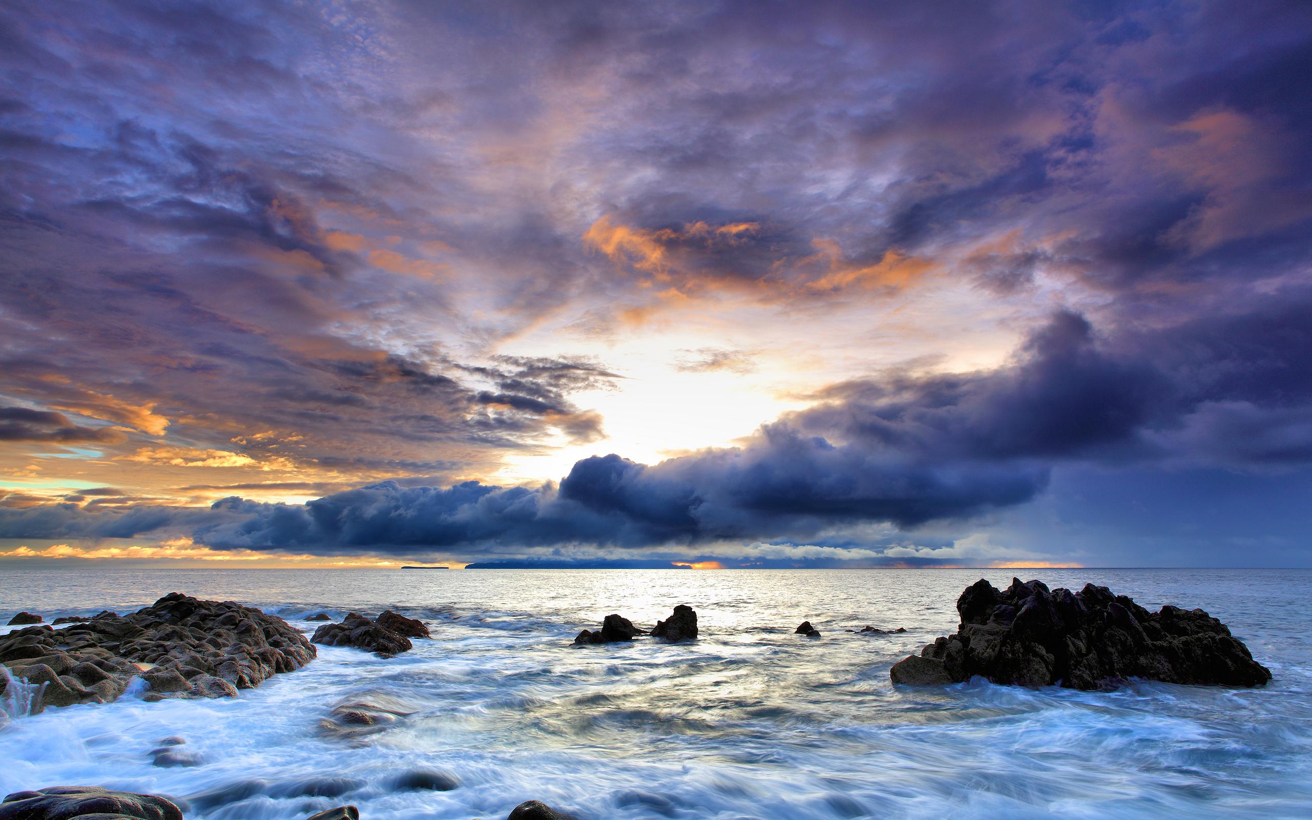 закат вода небо скачать