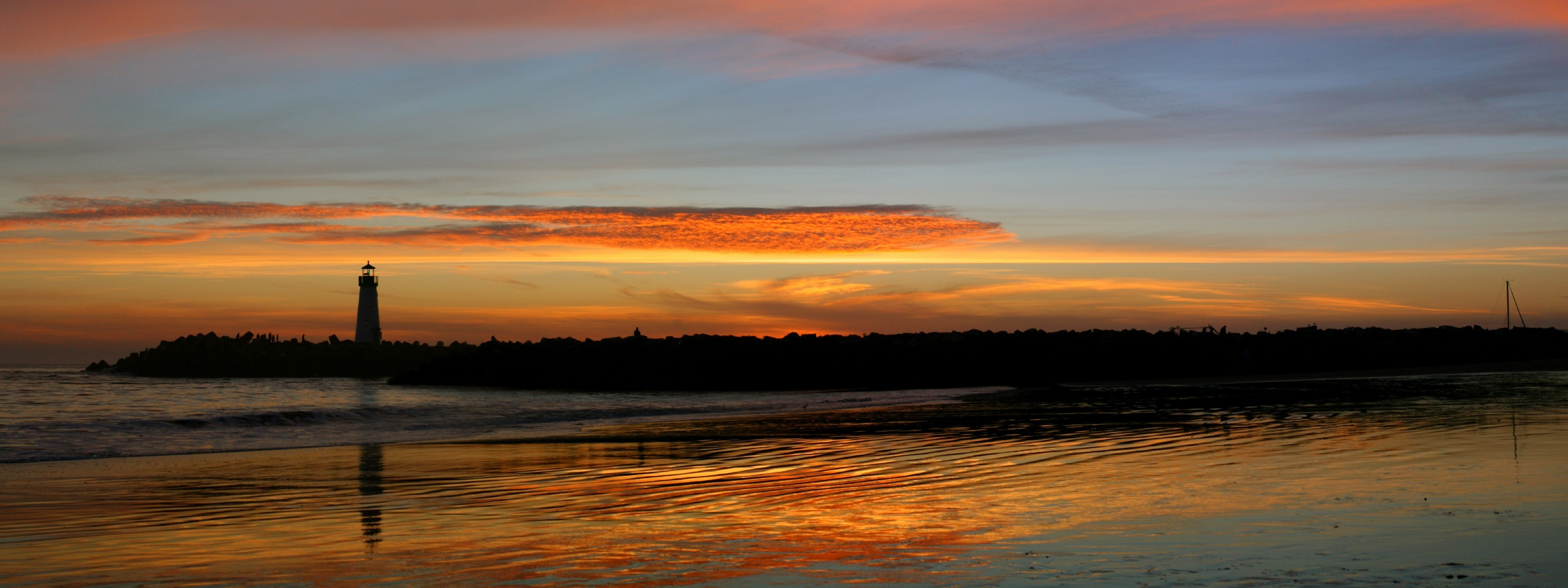 закат маяк море  № 1019842 без смс