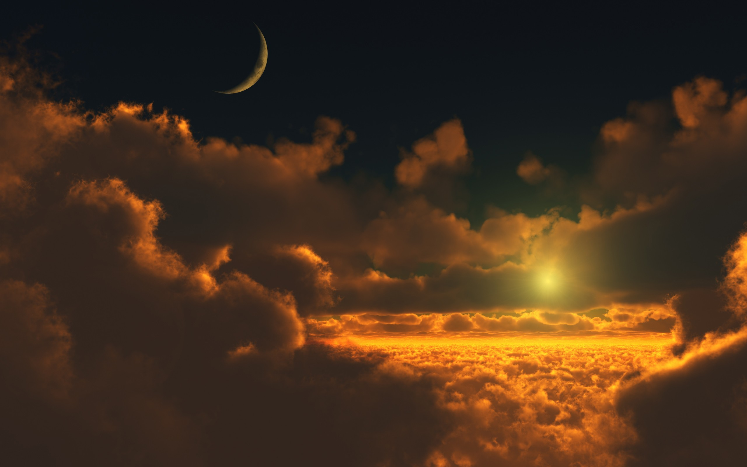закат солнце облака  № 3852013 без смс