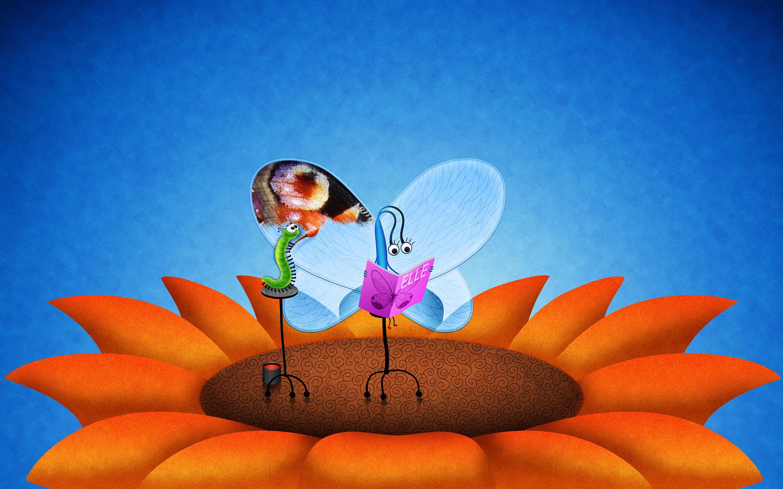 Прикольные открытки с бабочками, открытки