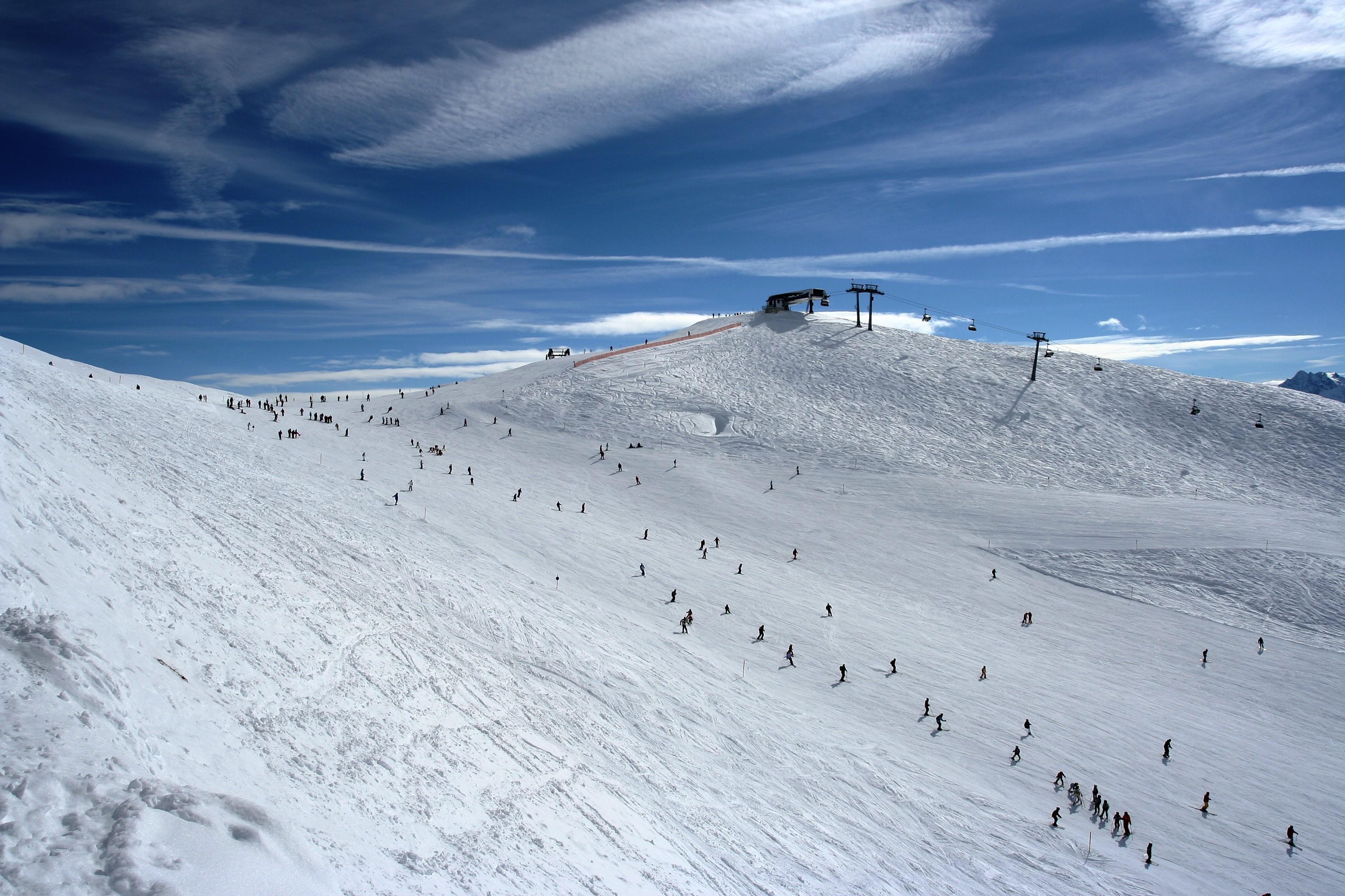 Снег на горных склонах  № 2944893  скачать