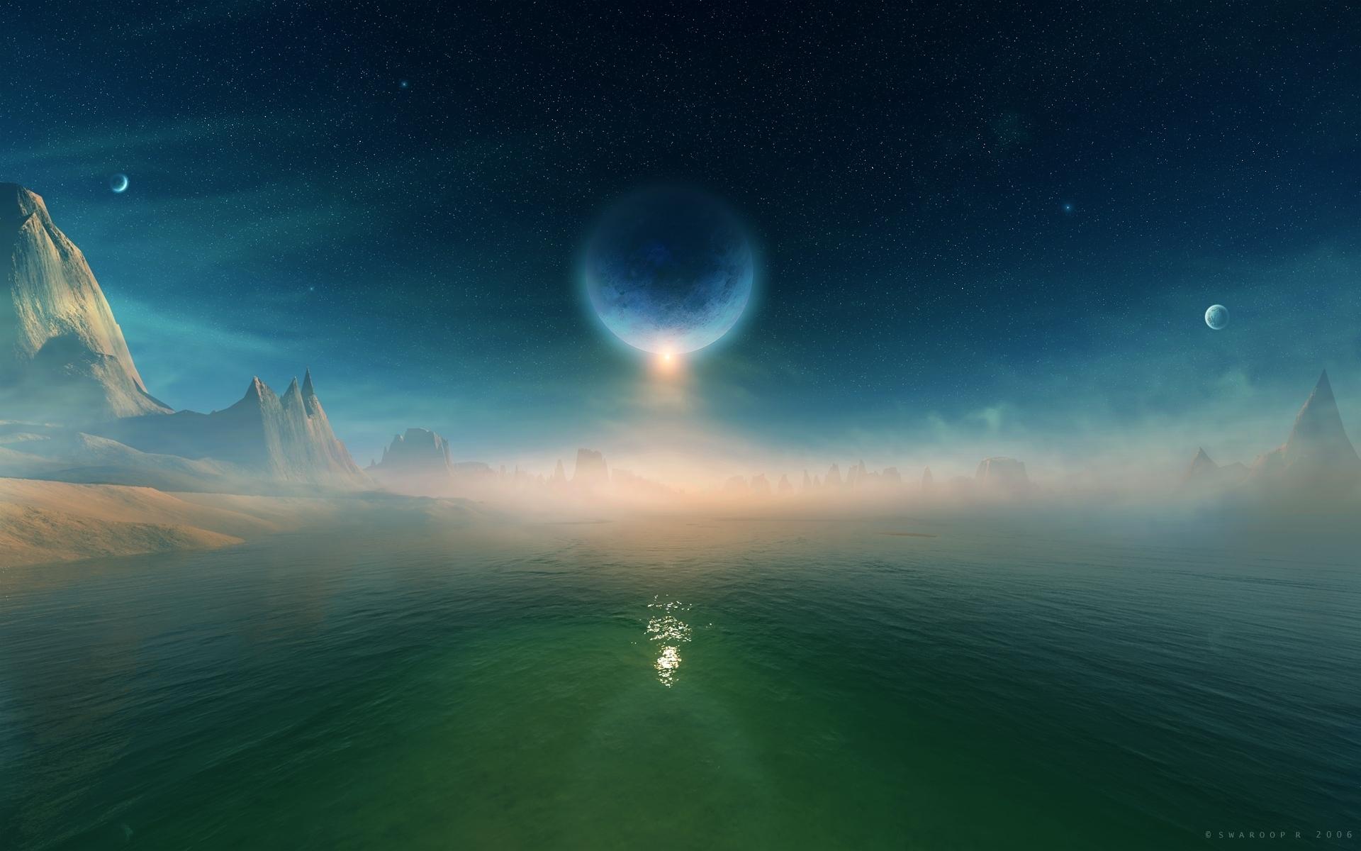 космос звезды природа море скачать