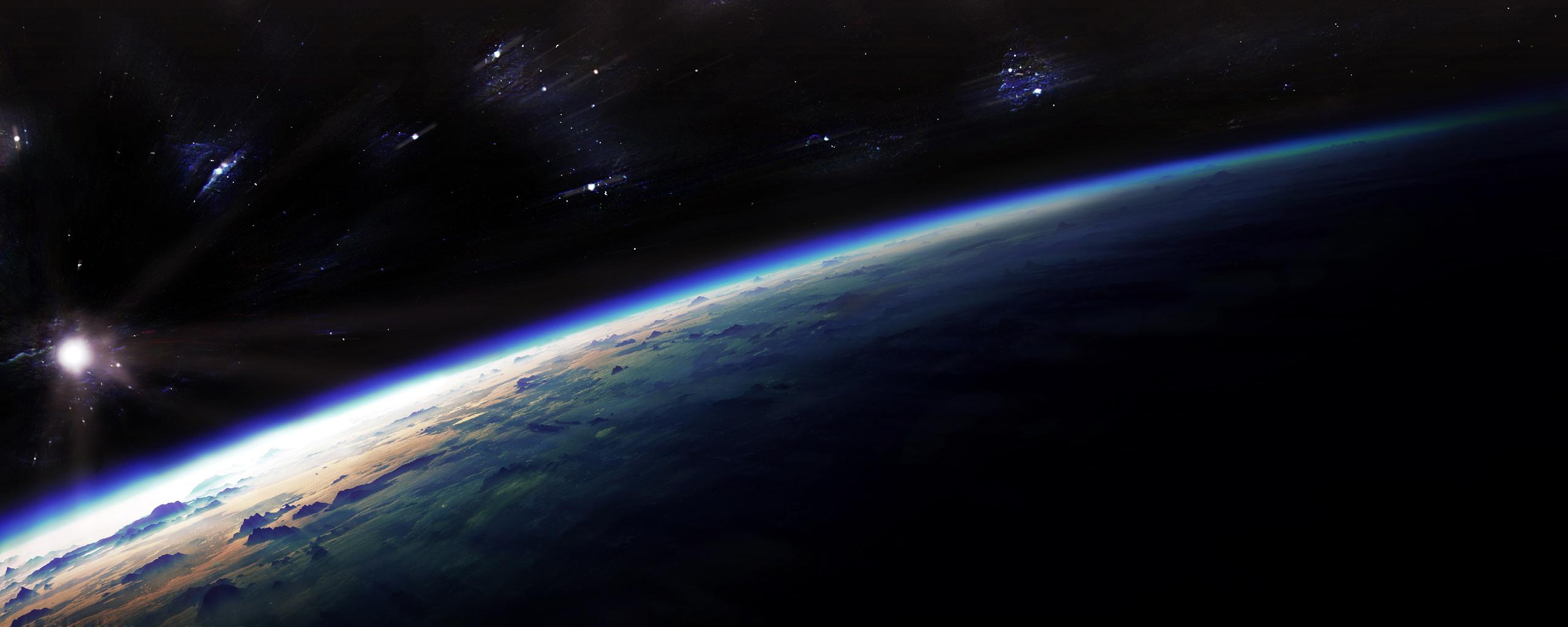 Обои планета земля свечение картинки на рабочий стол на тему Космос - скачать без смс