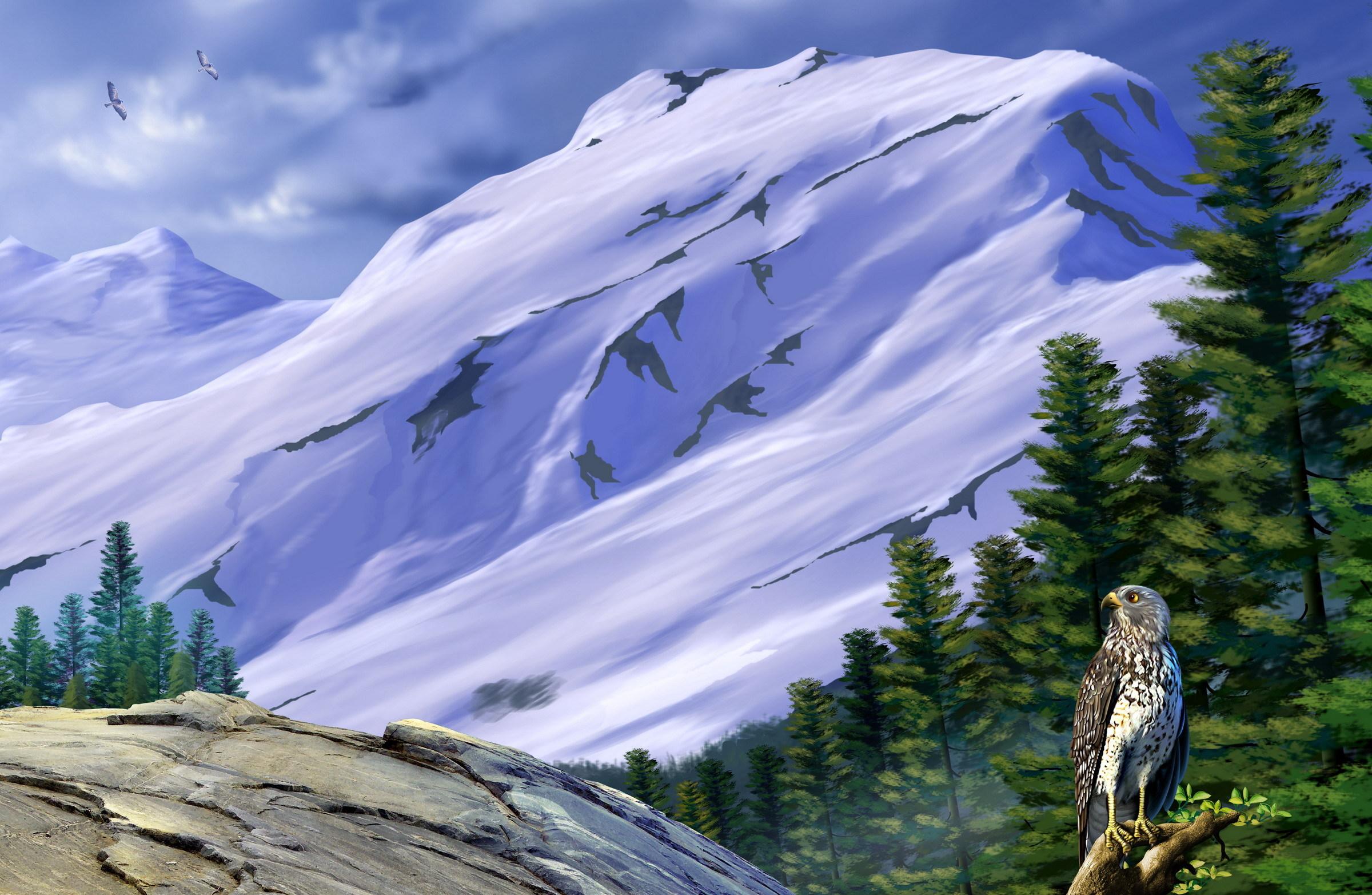 Орел над горными хребтами без смс