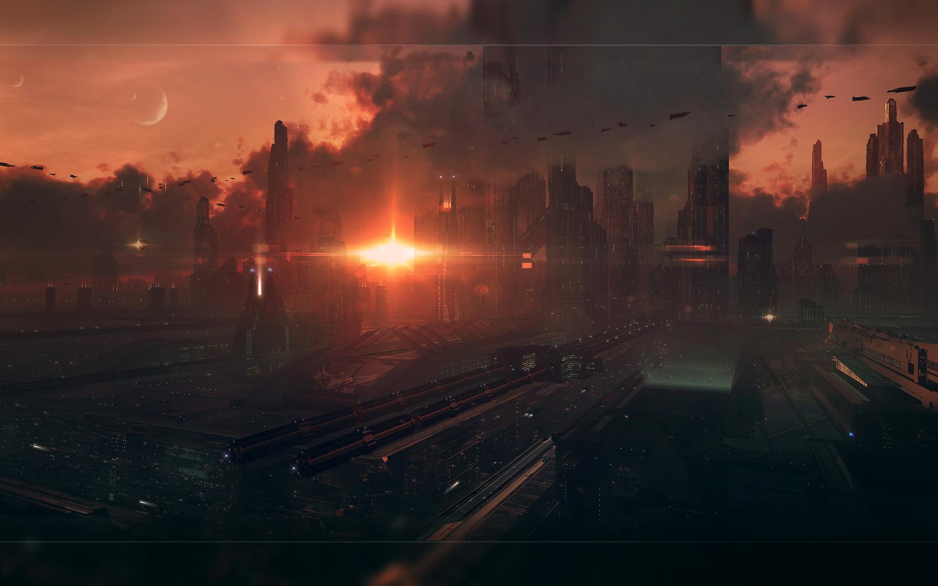 горящий мегаполис загрузить