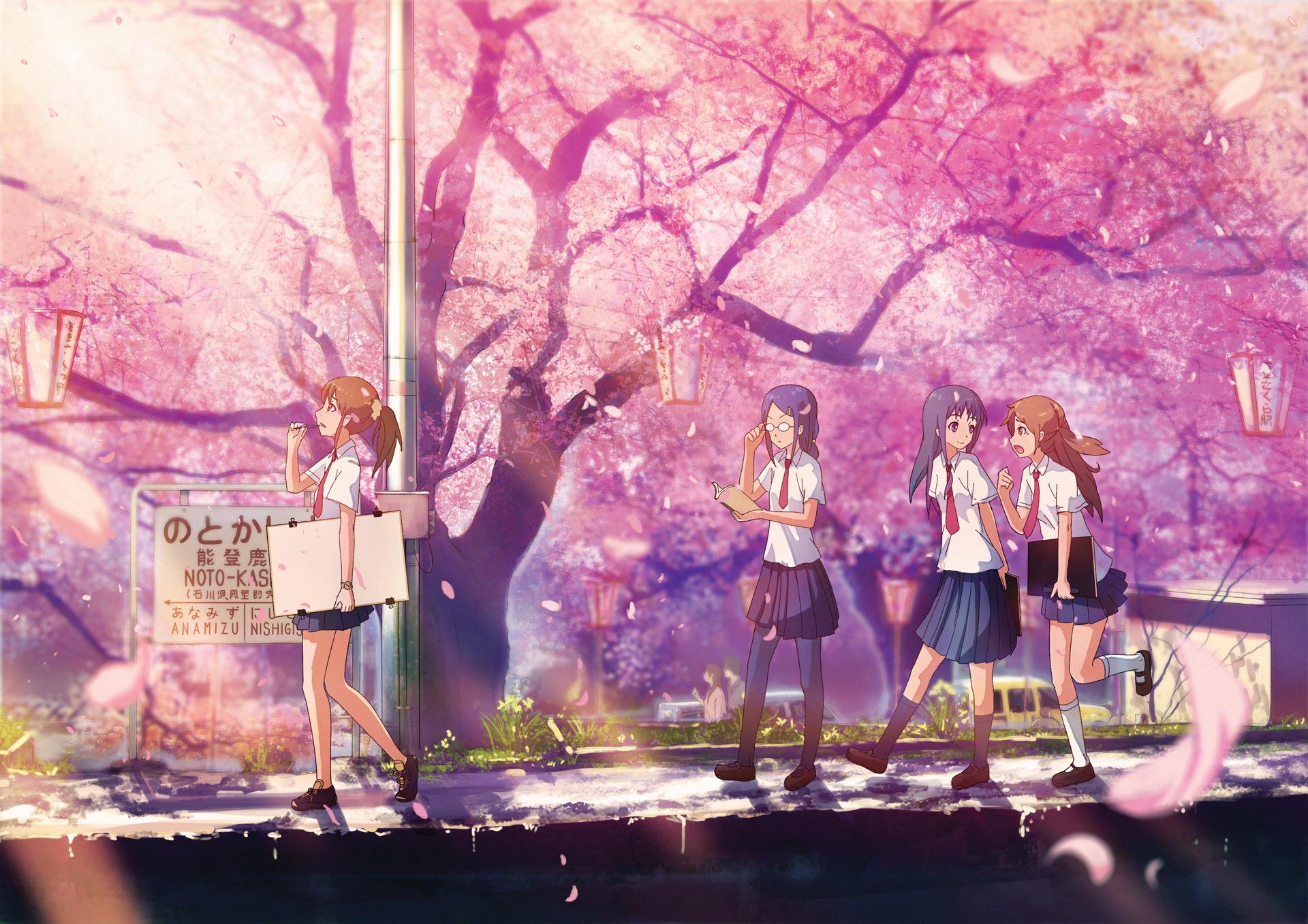 Девушка на балконе японское аниме  № 3866769 загрузить