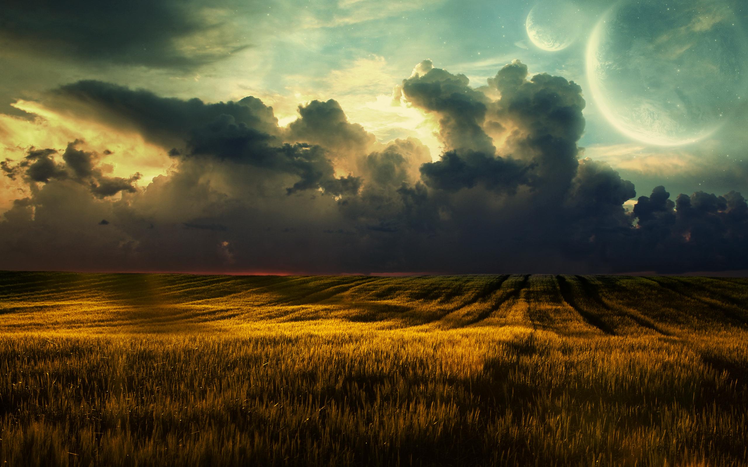 мельница небо поле облака закат загрузить