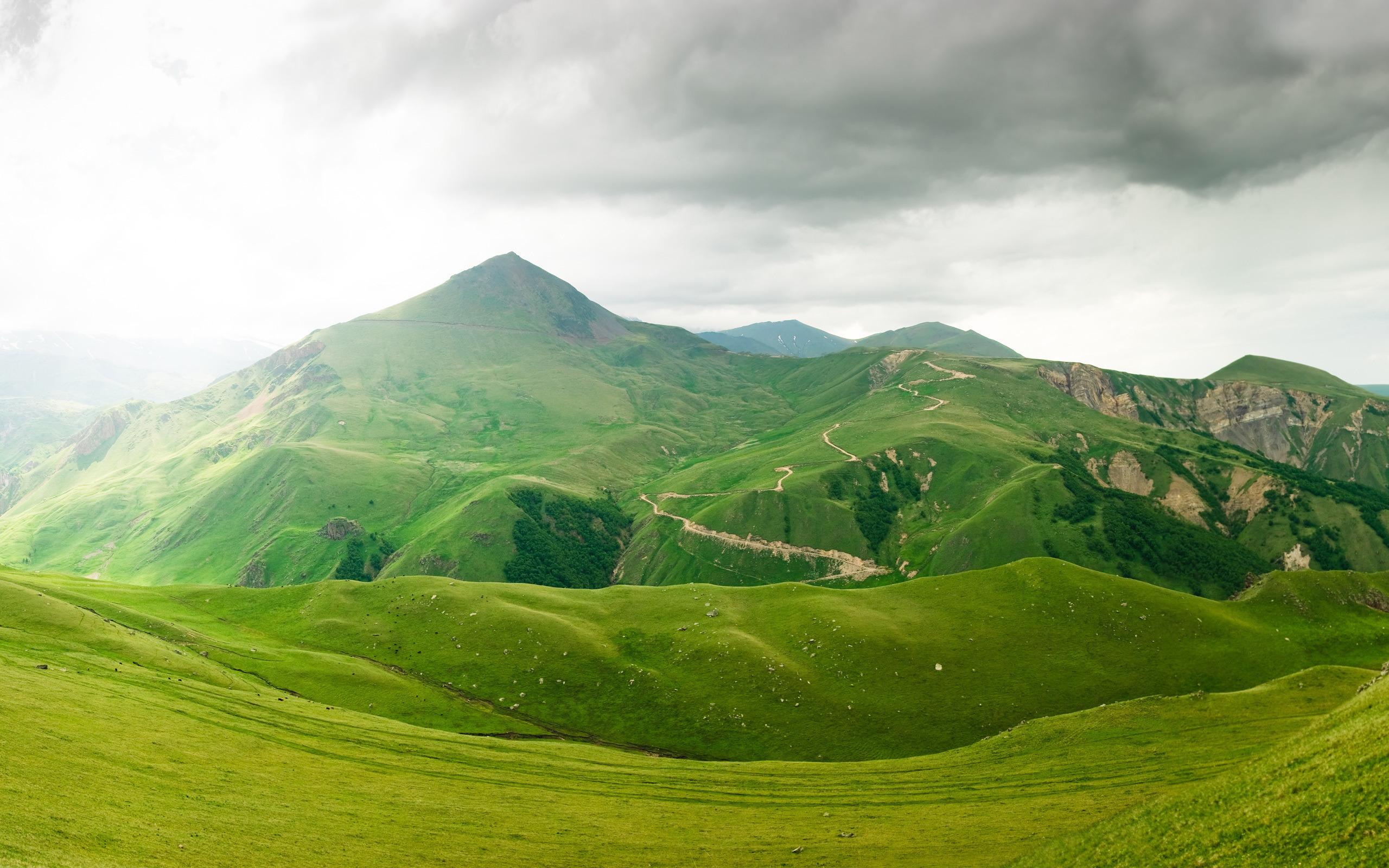 Зеленое поле возле горы  № 1077769 без смс