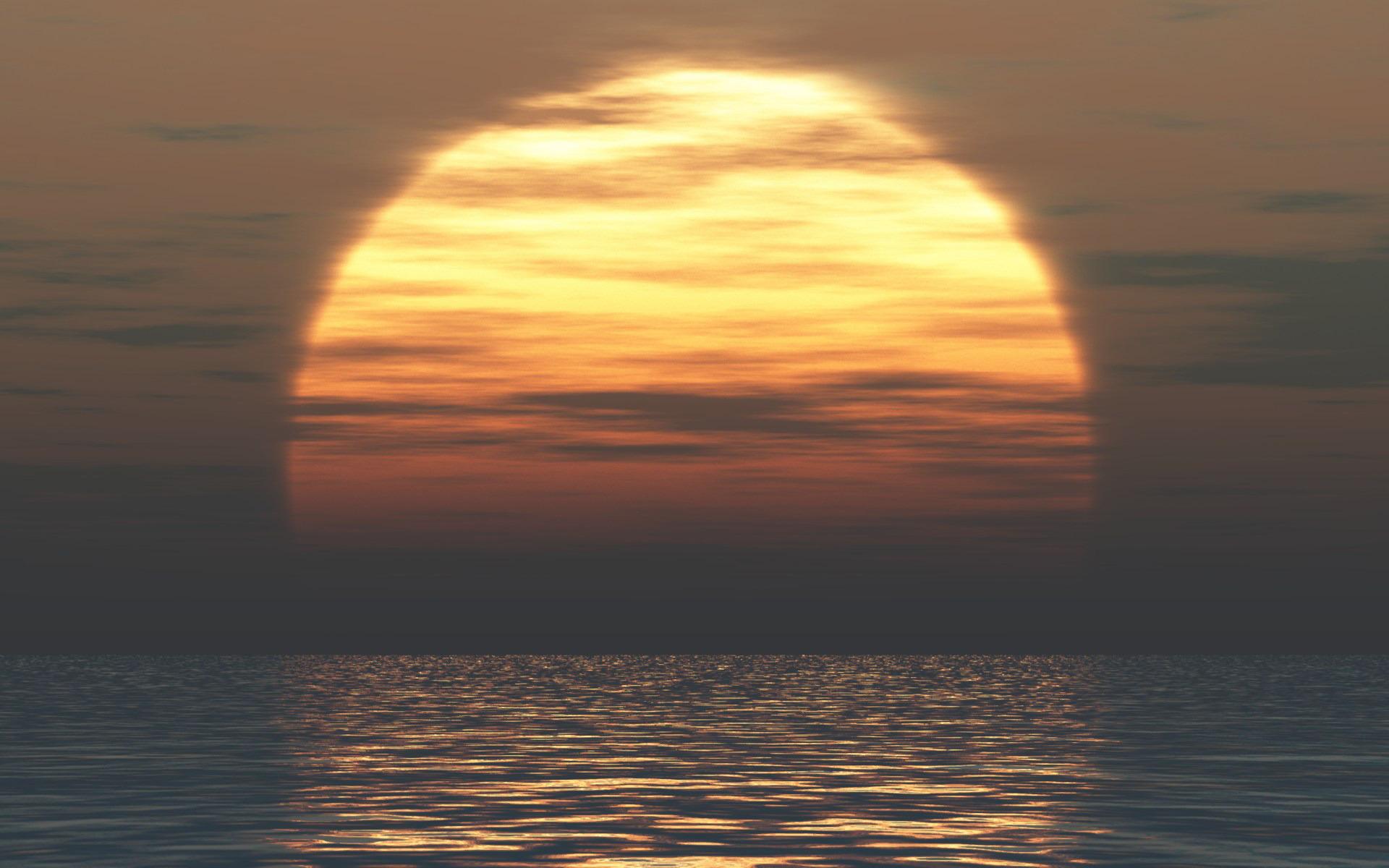 Фото солнца в закате
