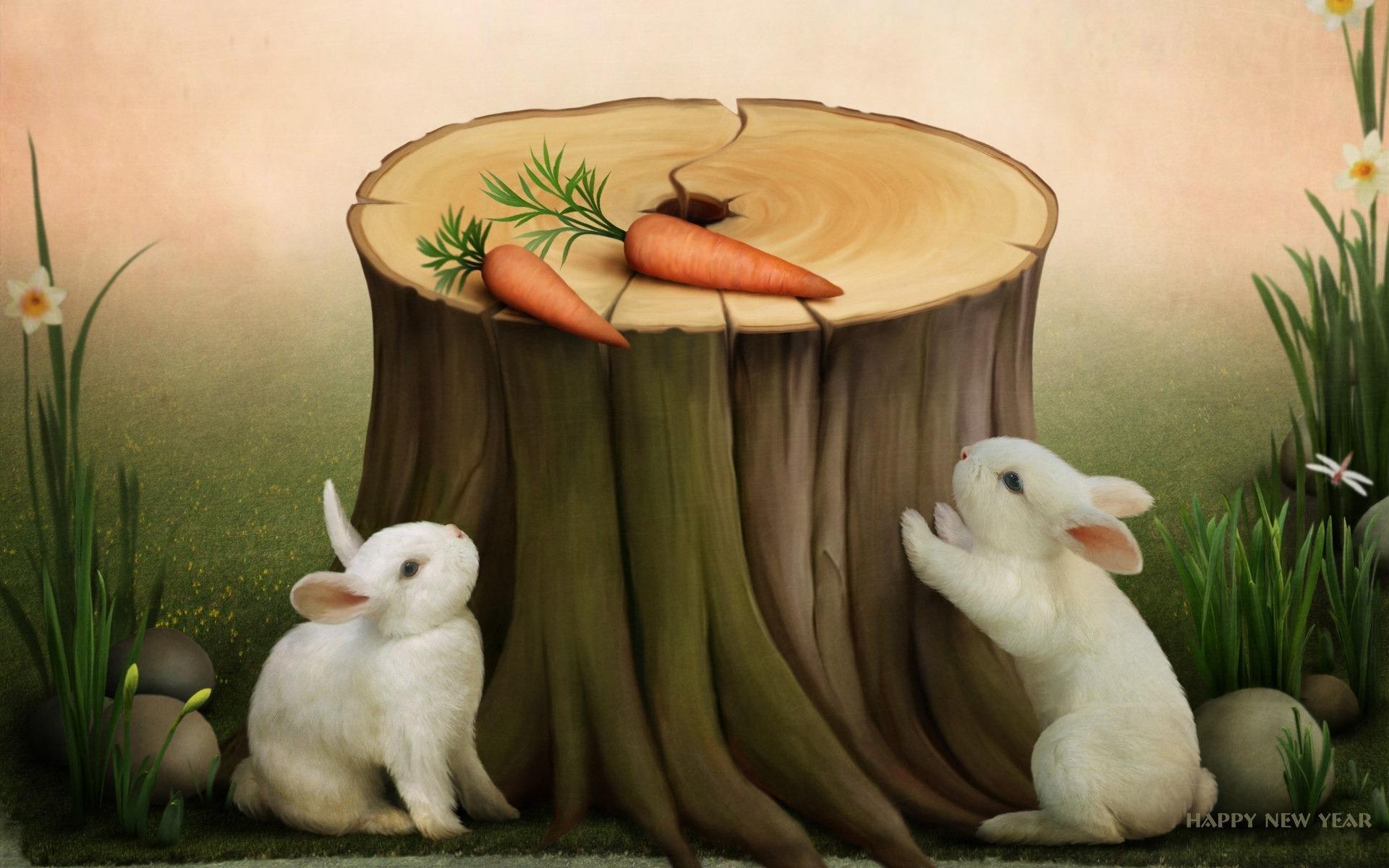 Кролик, морковка, собака без смс