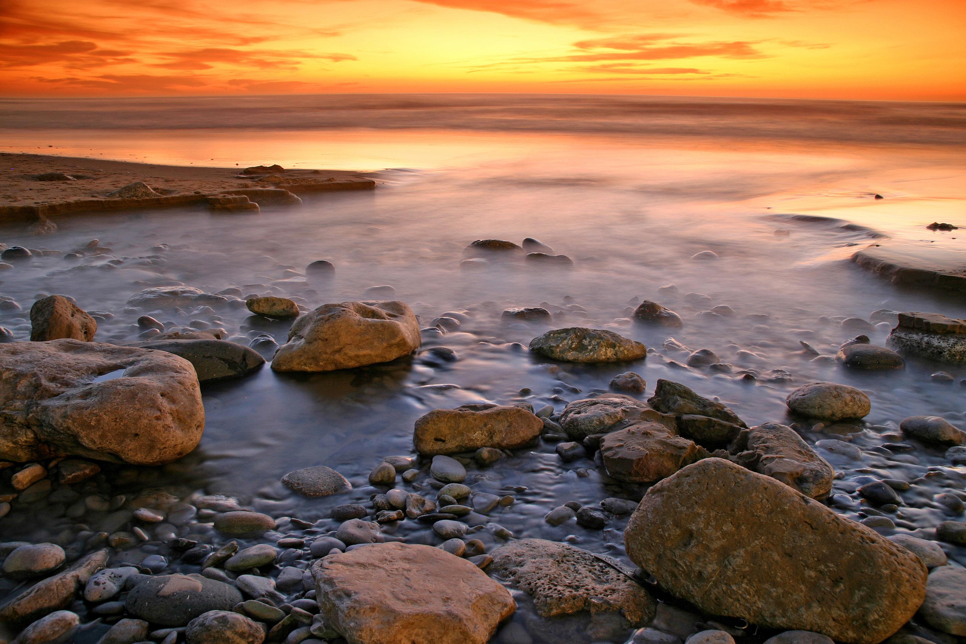 закат камень берег море sunset stone shore sea  № 1023669  скачать