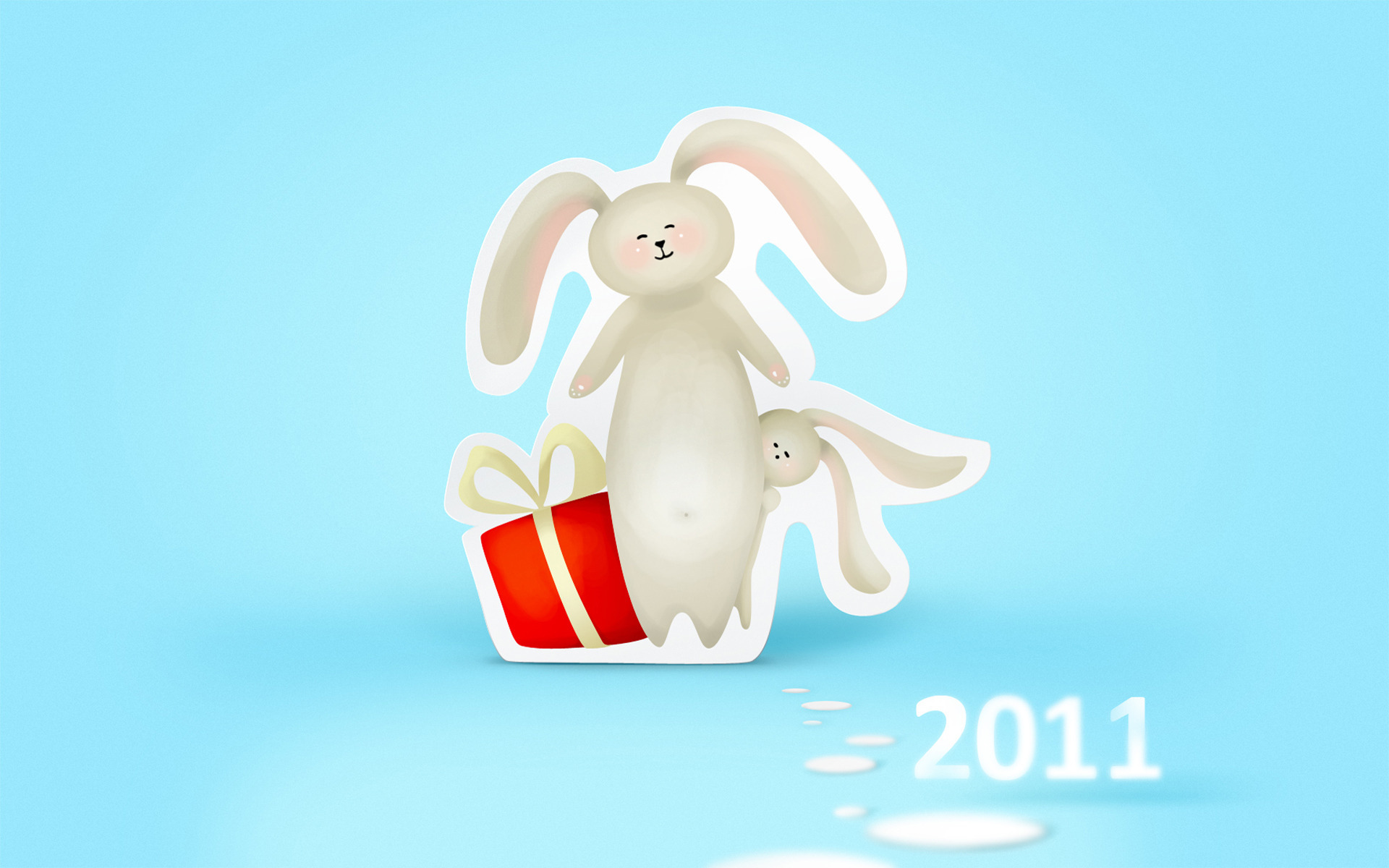 Открытка новому году 2011, картинки лето