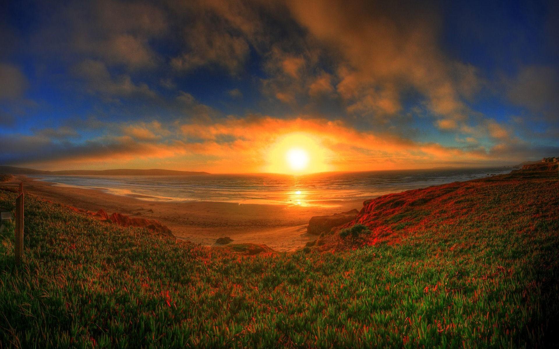 Картинки природа закат солнца, открытки днем