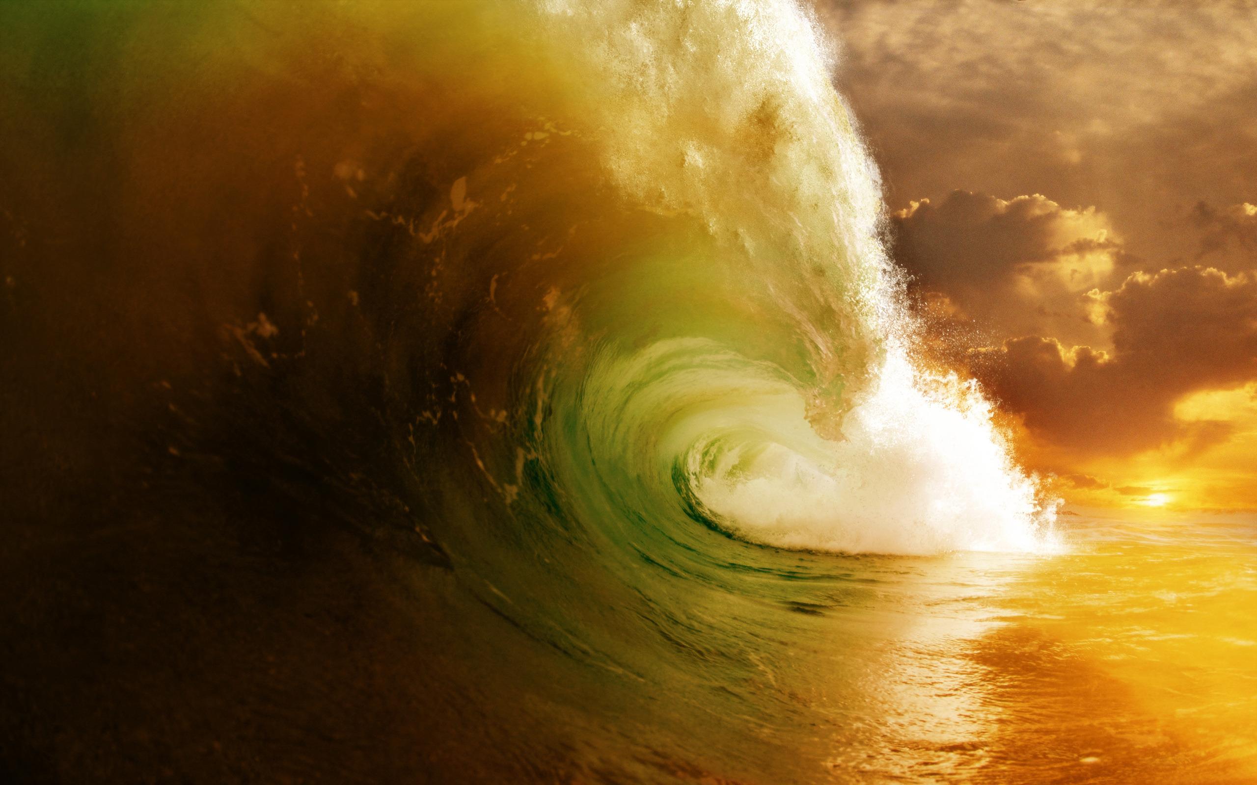 природа волна радуга вода  № 1039576 без смс