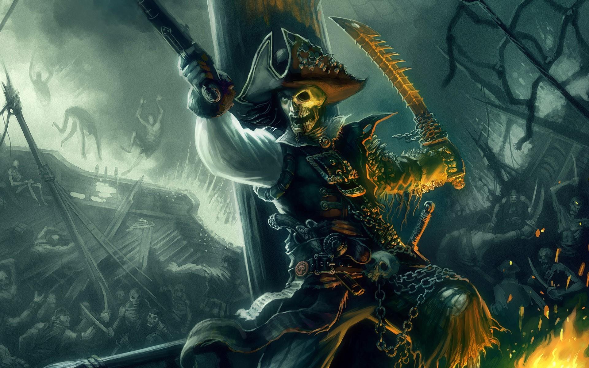 Пират с якорем загрузить