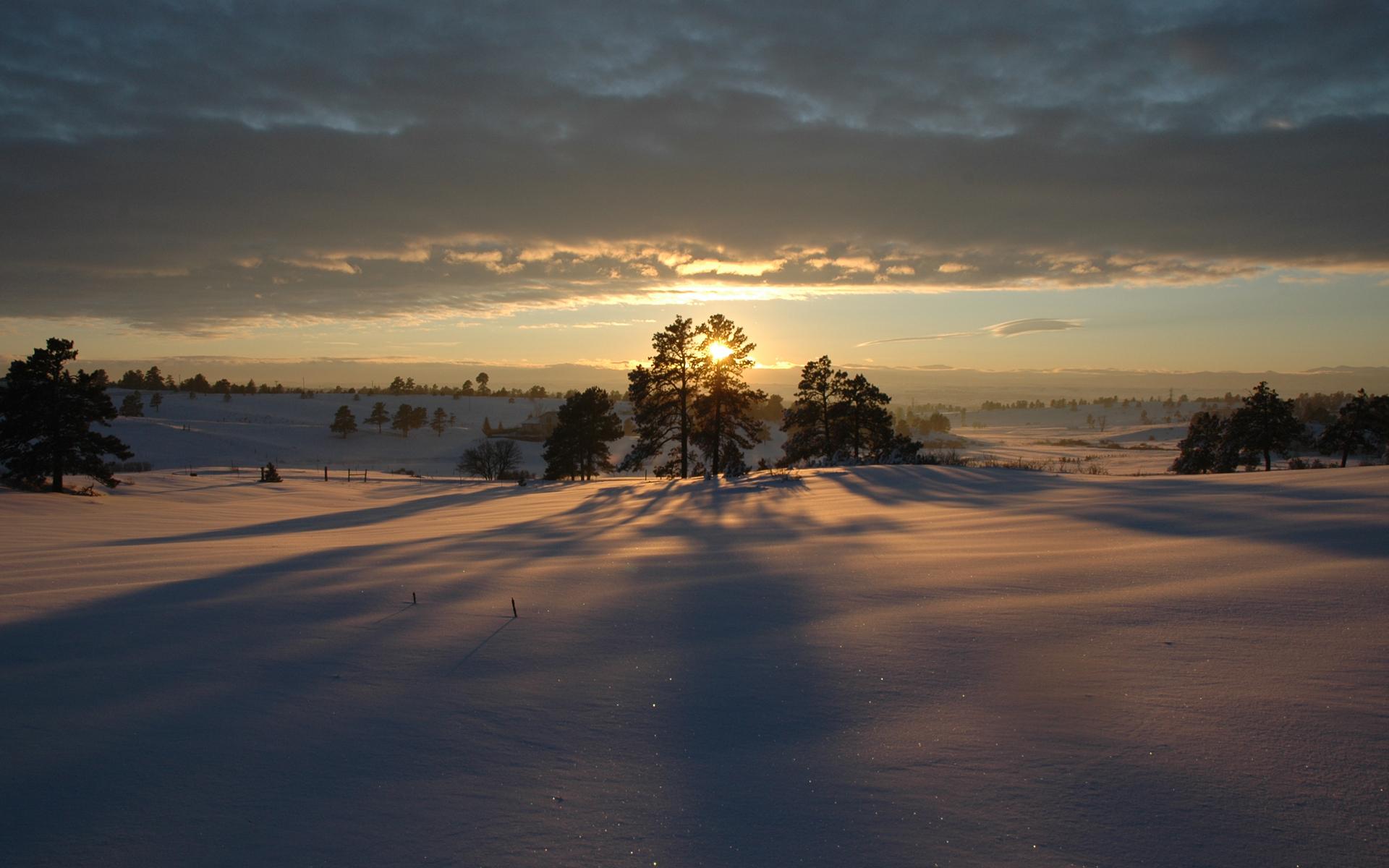 закат над снежной степью  № 831976 без смс