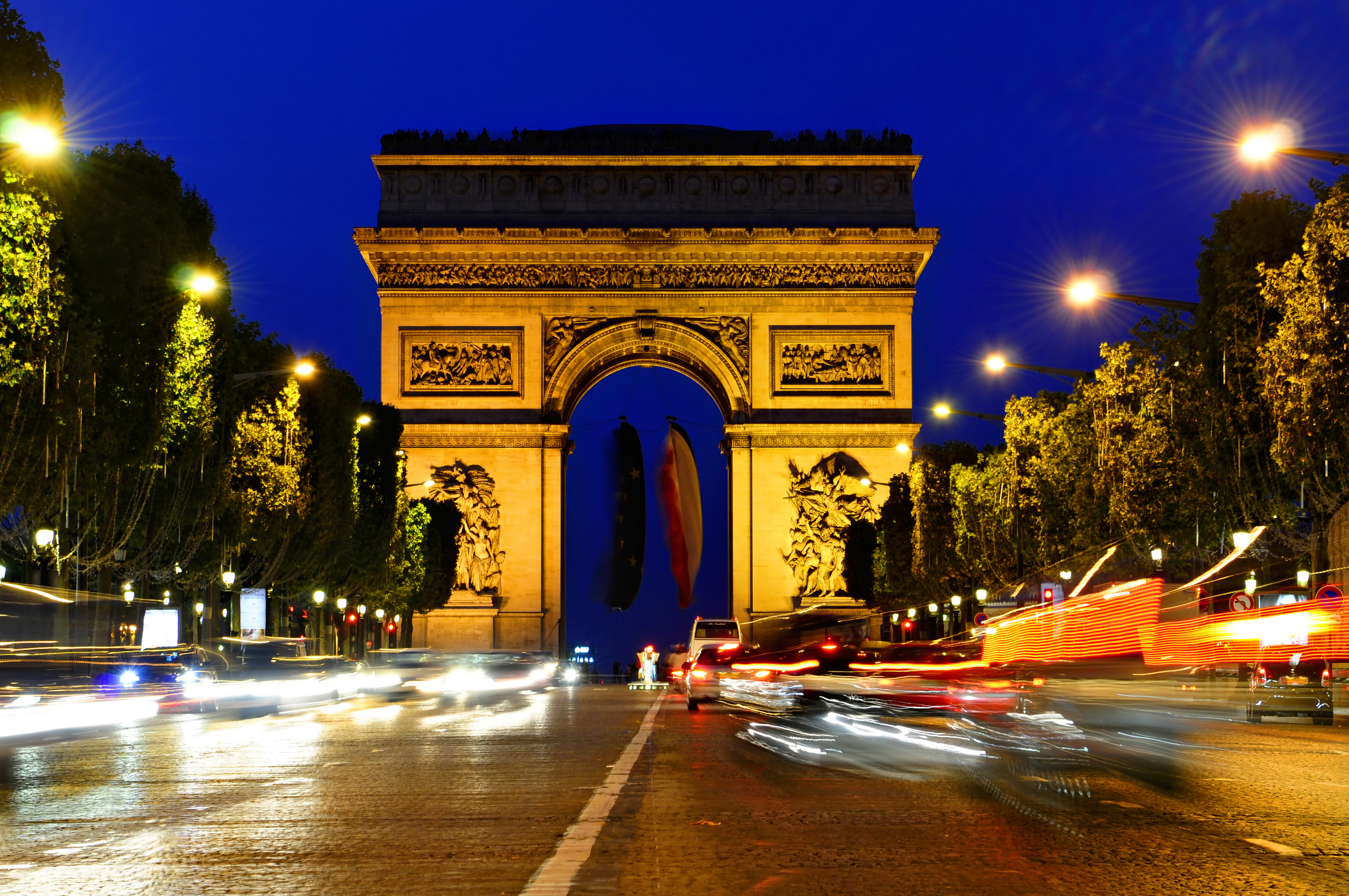 Елисейские Поля Париж центр магистраль загрузить
