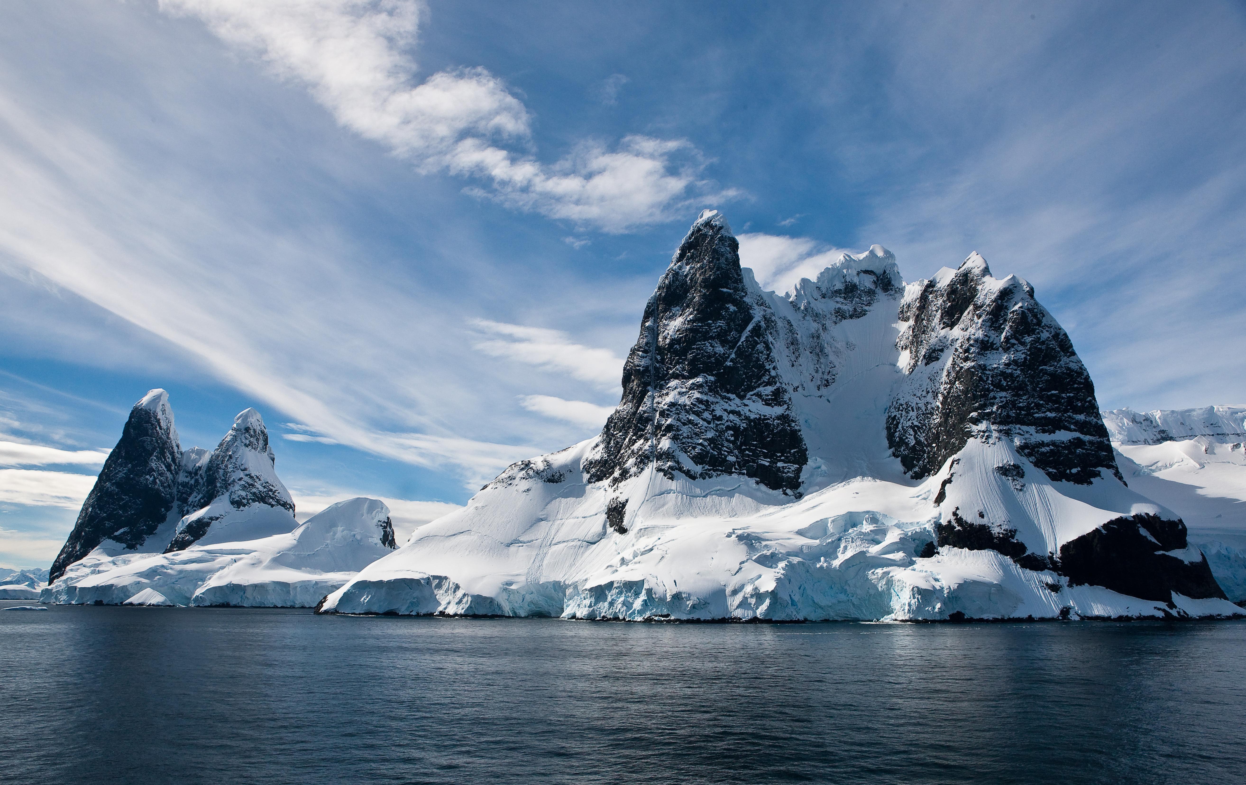 природа скалы горы снег nature rock mountains snow скачать