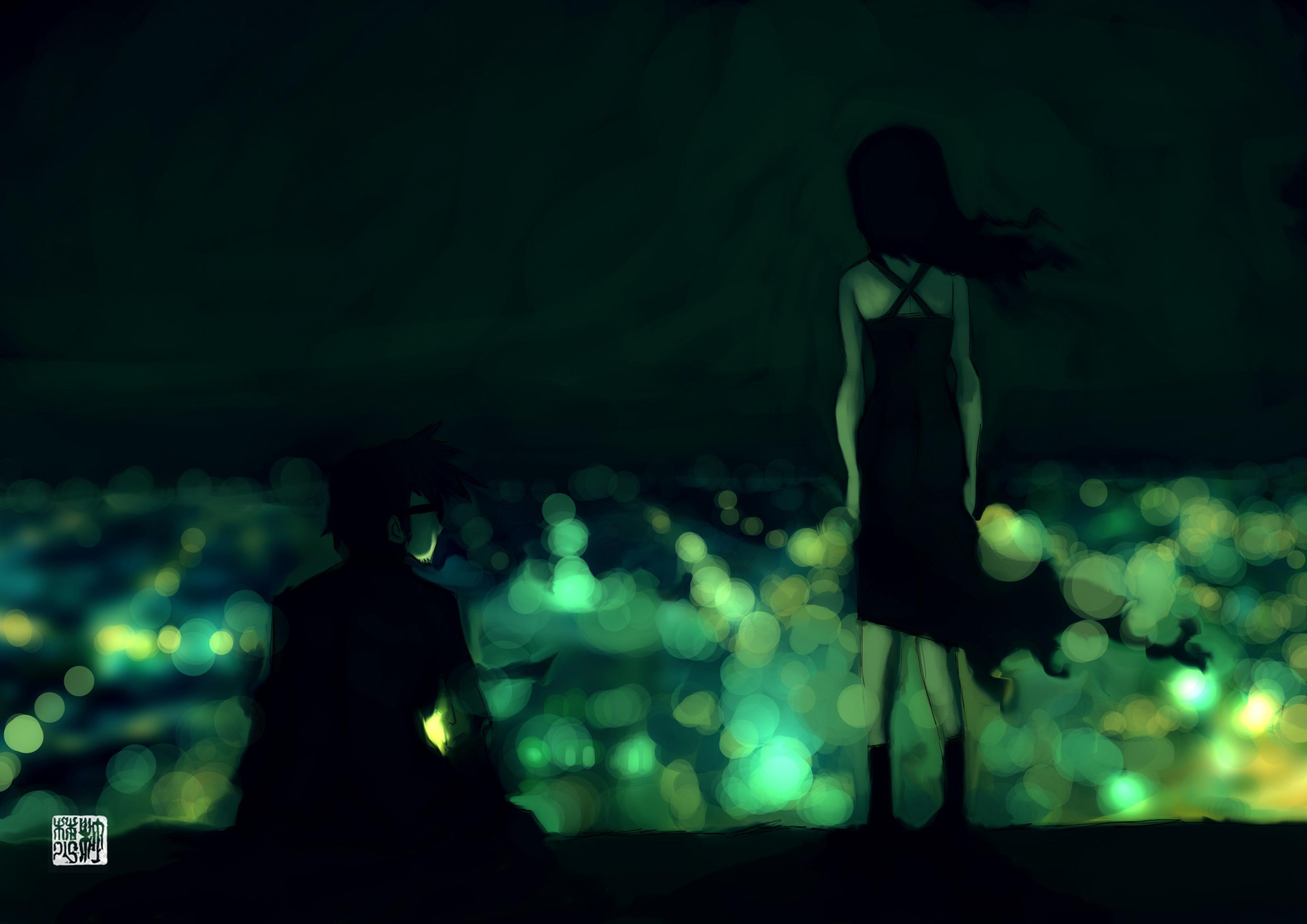 Девочка с зелеными темнями  № 176505 без смс