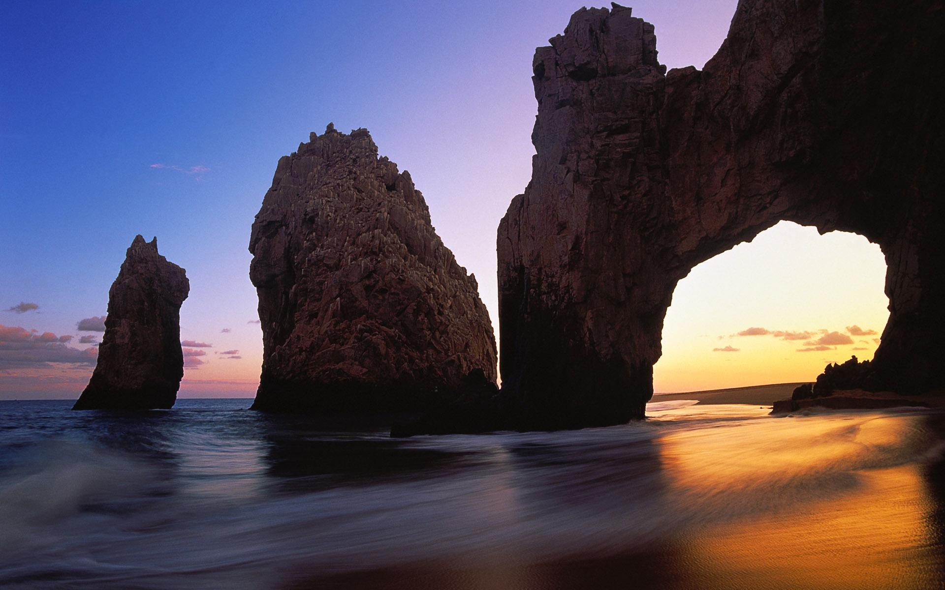 арка скалы море небо  № 2842049  скачать