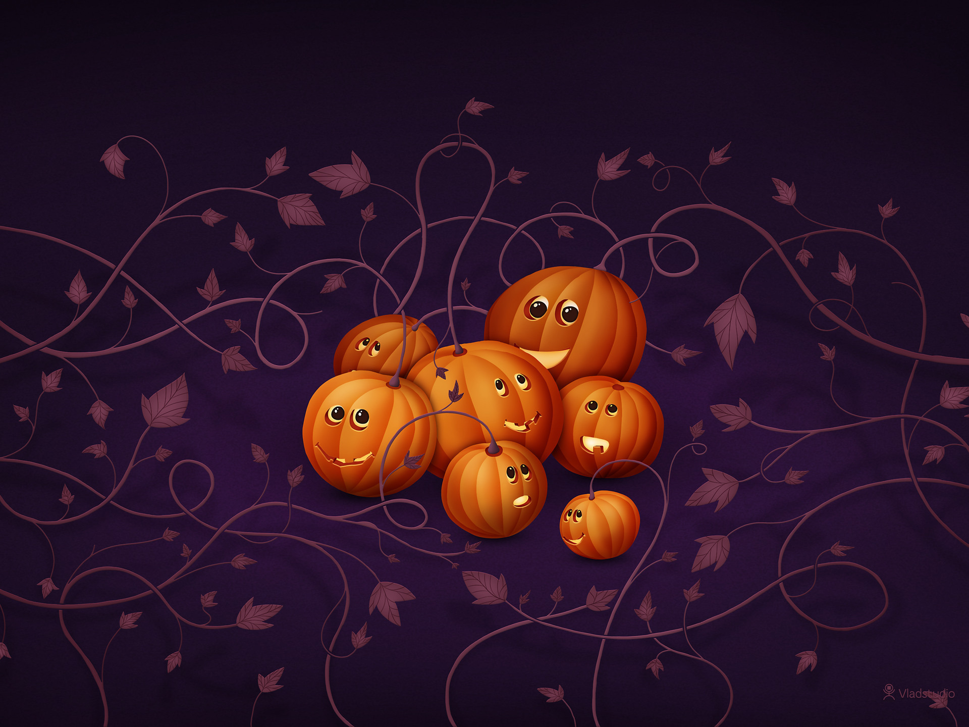 тыква Хэллоуин фон бесплатно