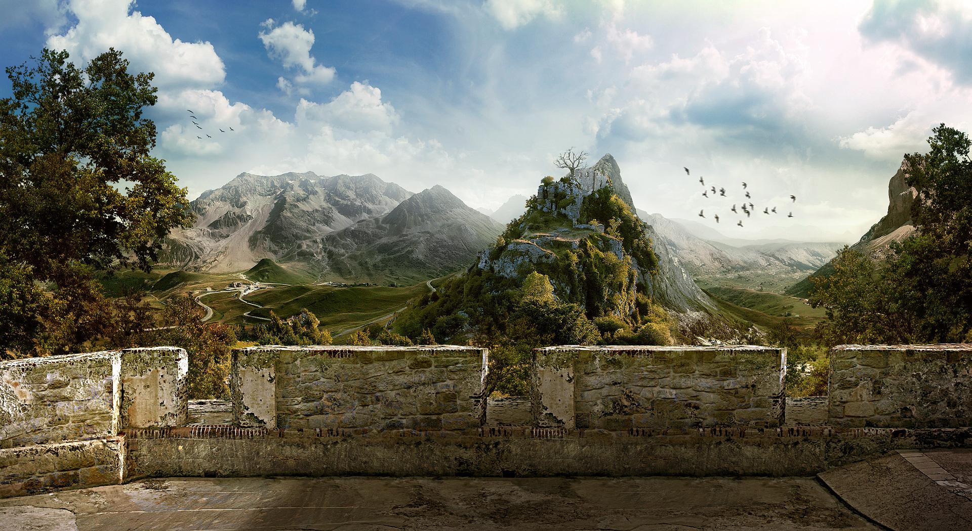 Стена горы строение  № 2206479 без смс