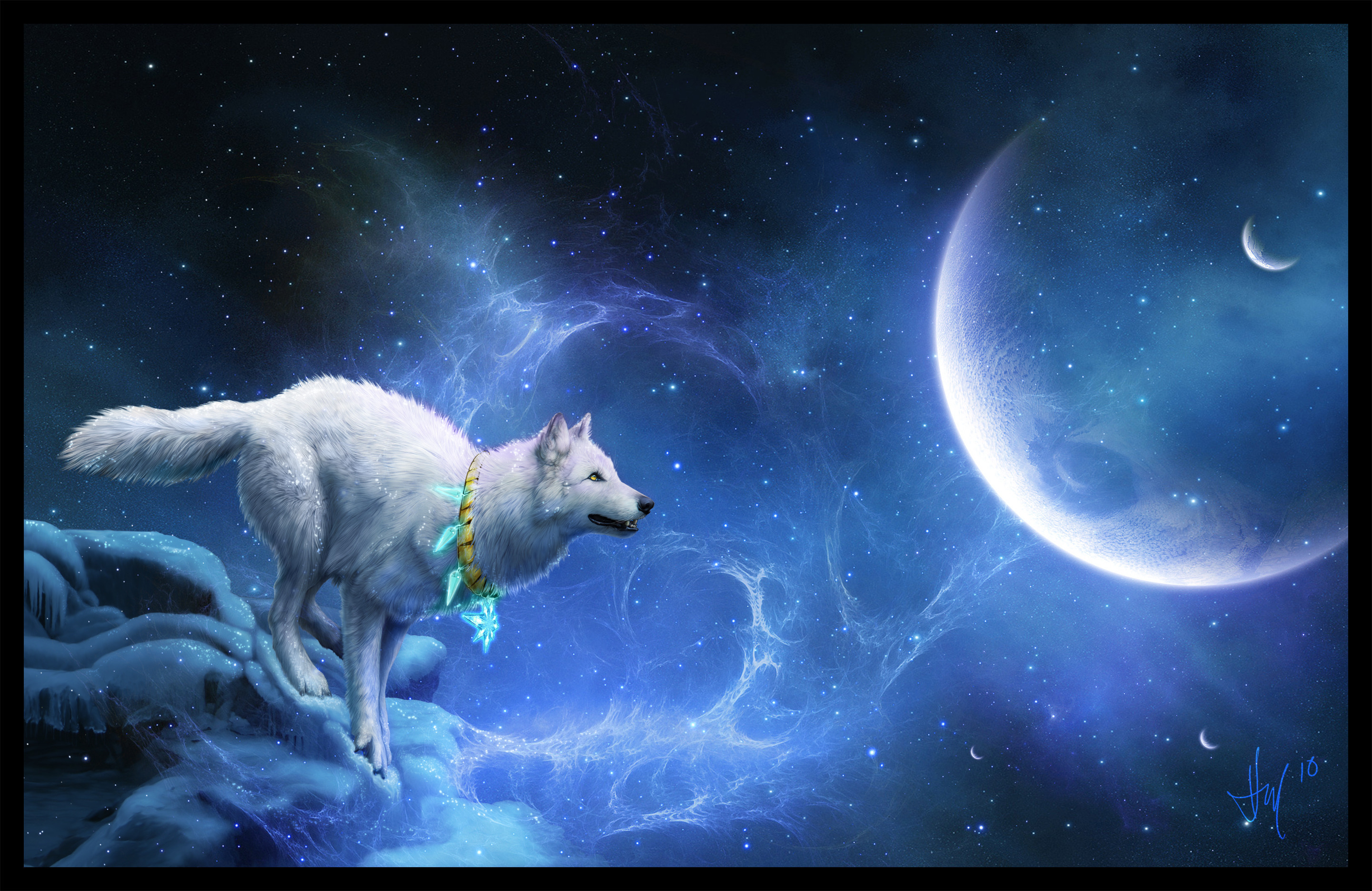 Картинка мистический волк