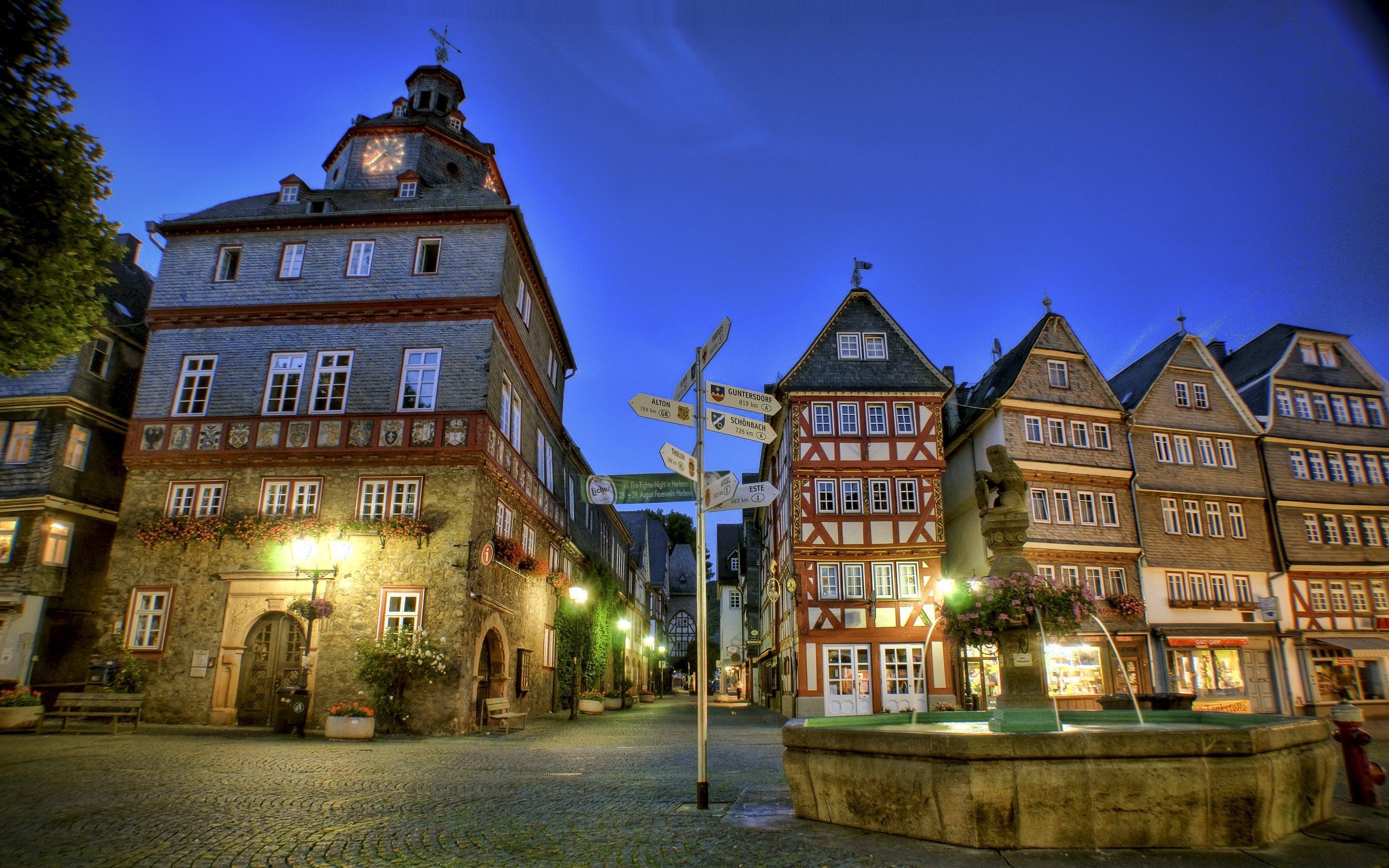 Lorch Village, Hesse, Rhine River, Germany  № 78285 загрузить