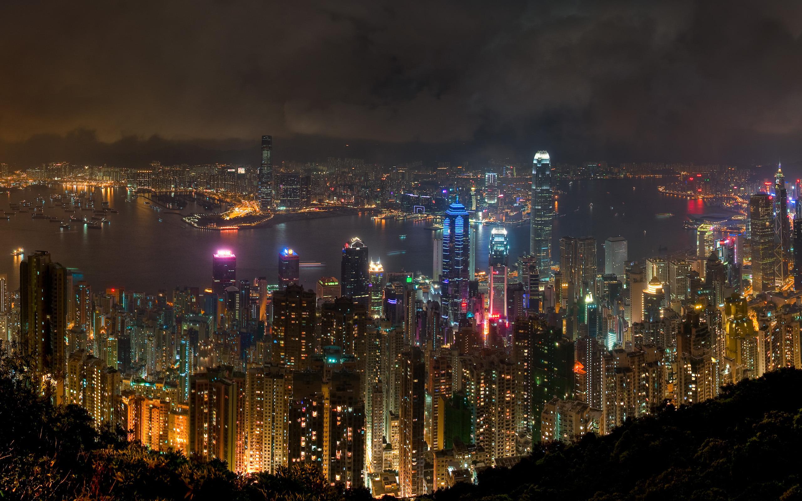 небоскребы ночь город  № 3358912  скачать