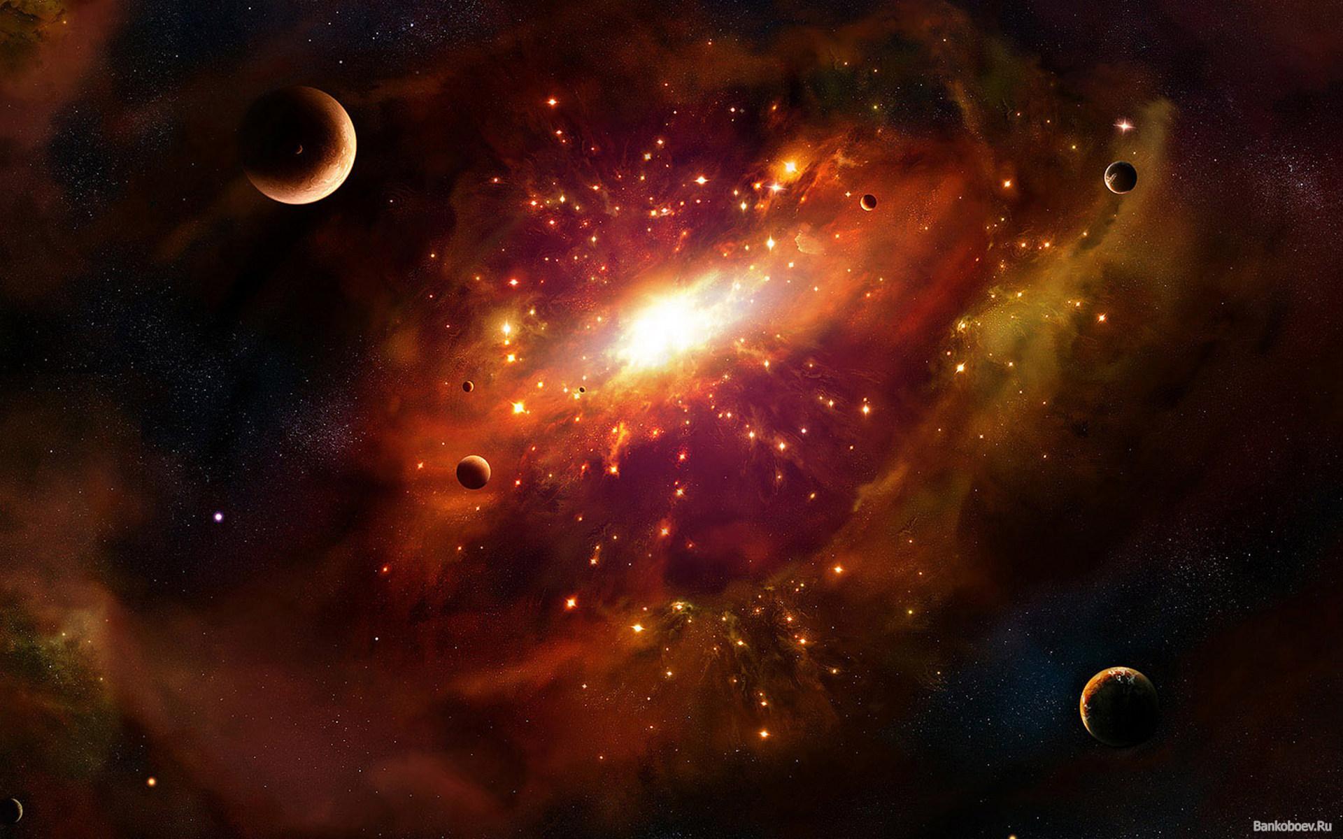 Обои Свечение за планетами картинки на рабочий стол на тему Космос - скачать скачать